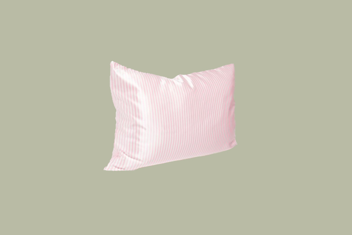 pink stripe slip pillowcase