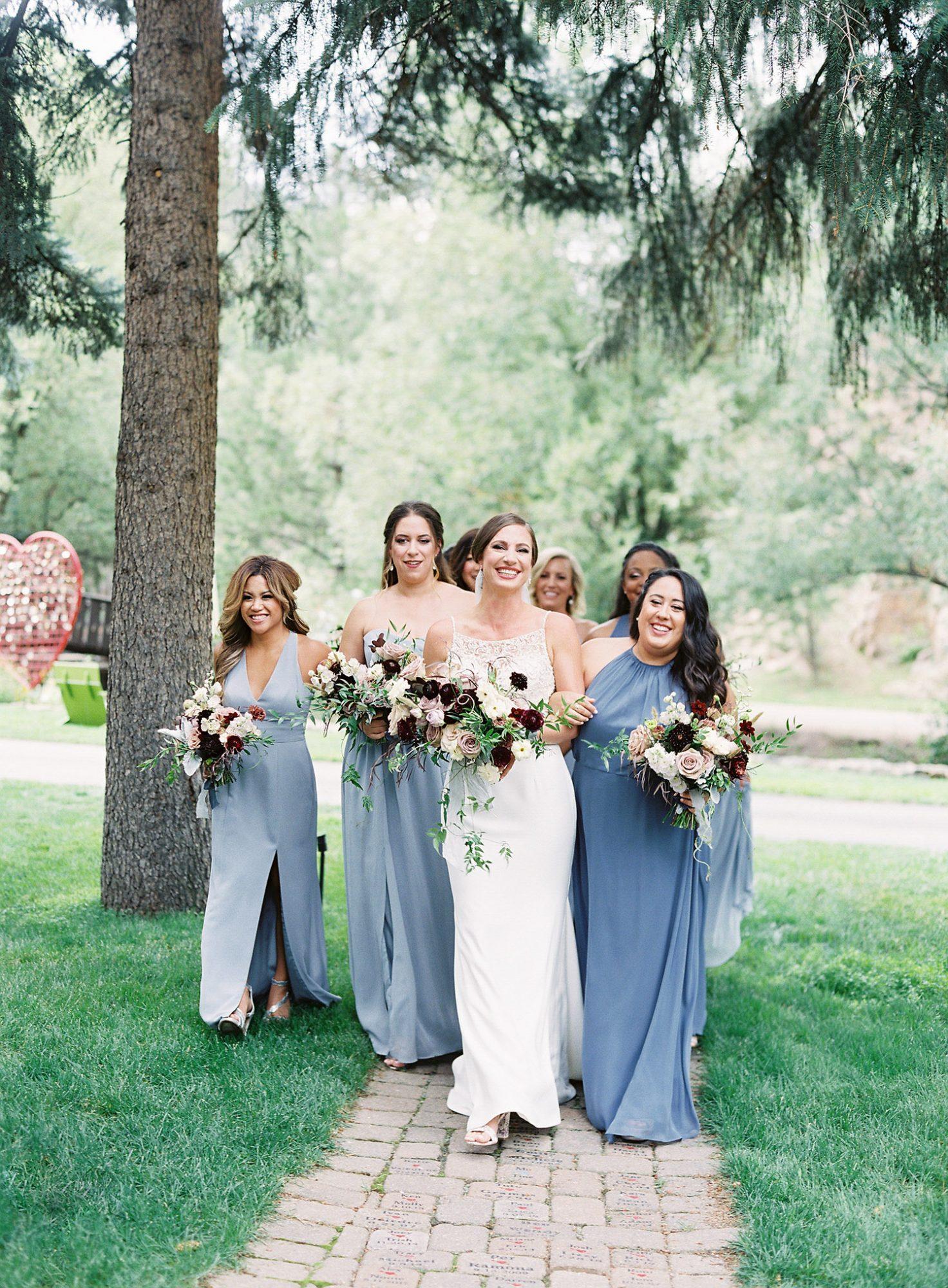 Casey Andrew Wedding Bridesmaids and Bride