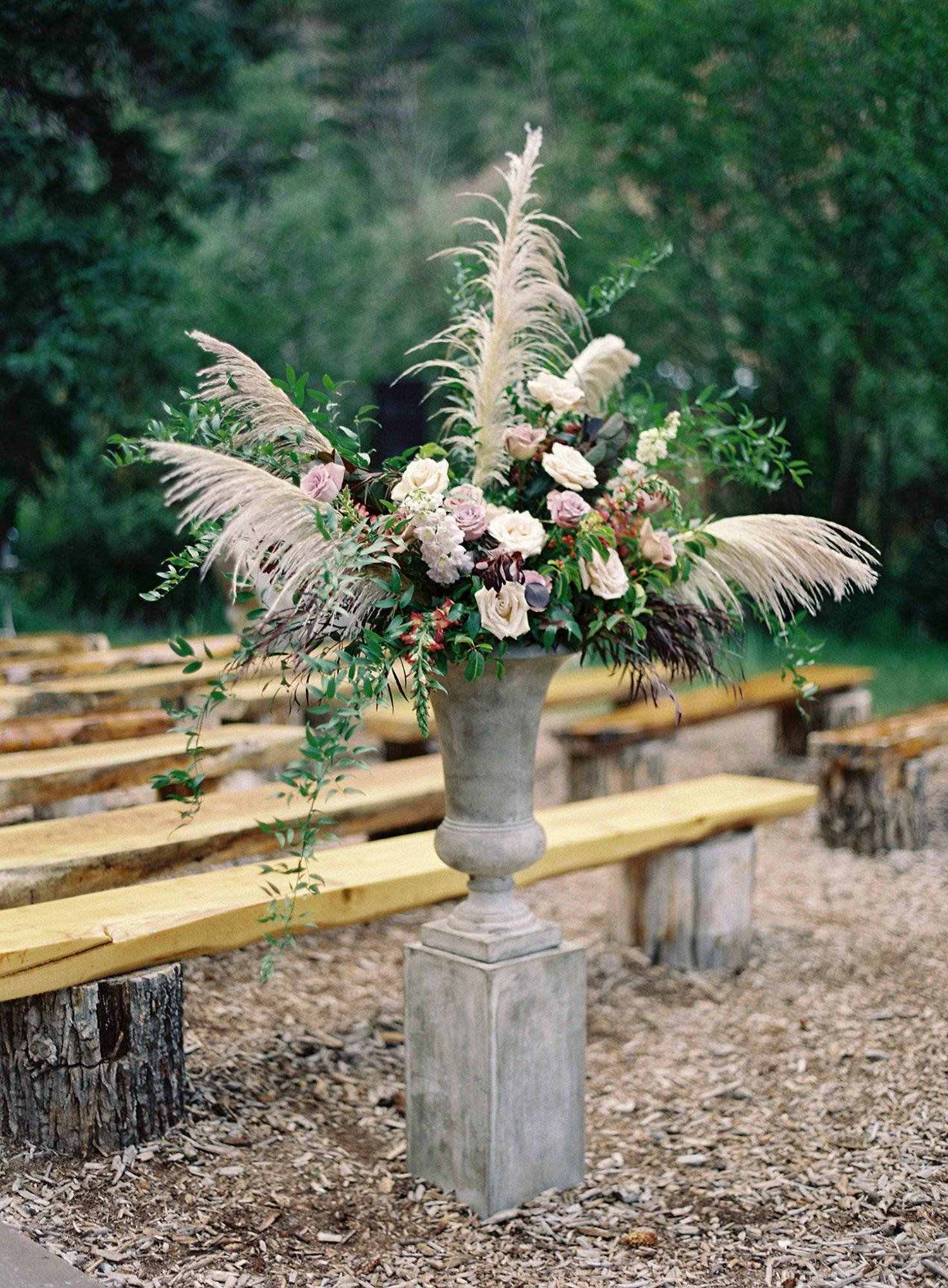 Casey Andrew Wedding Ceremony Flowers
