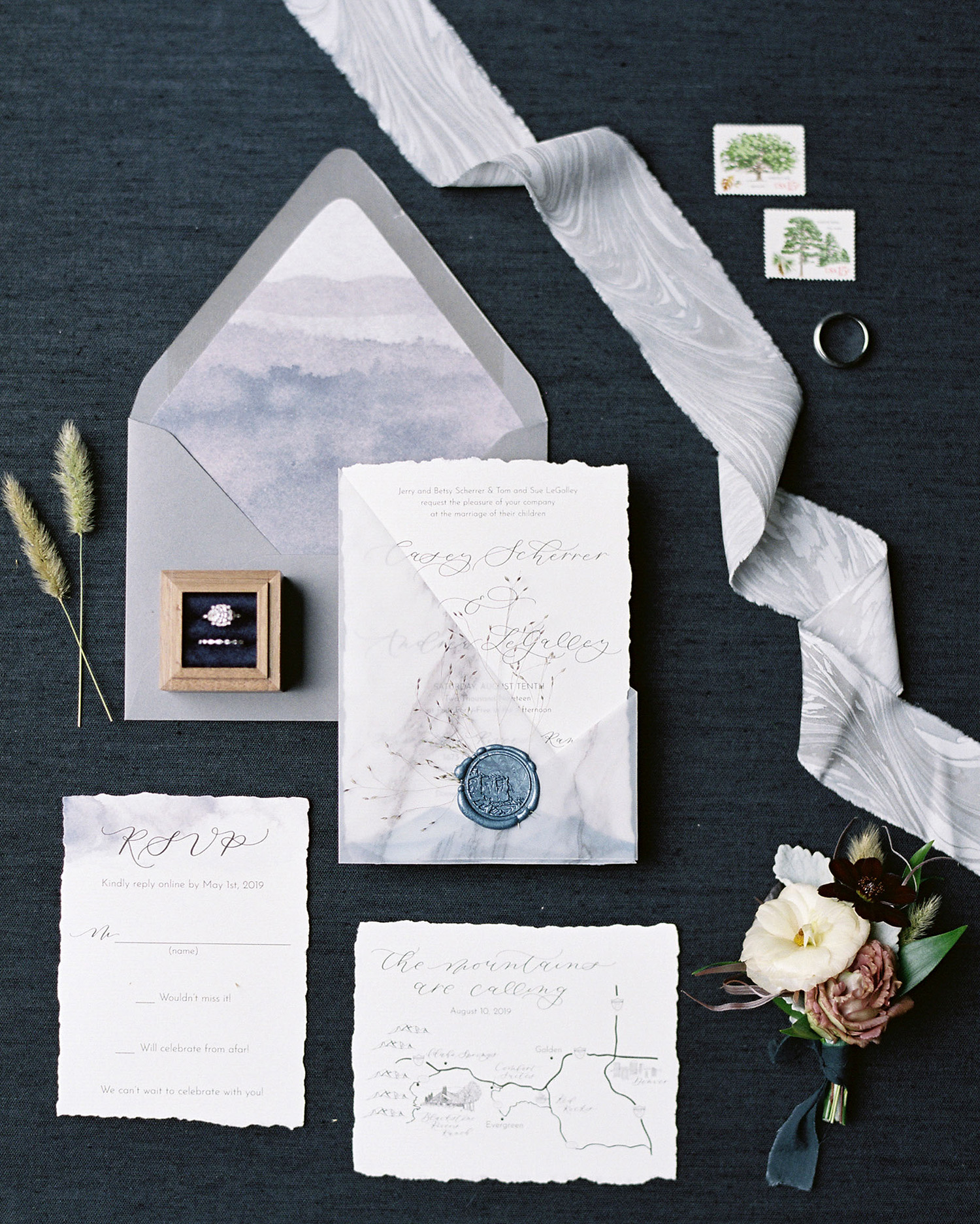 Casey Andrew Wedding Invitations Stationery Suite