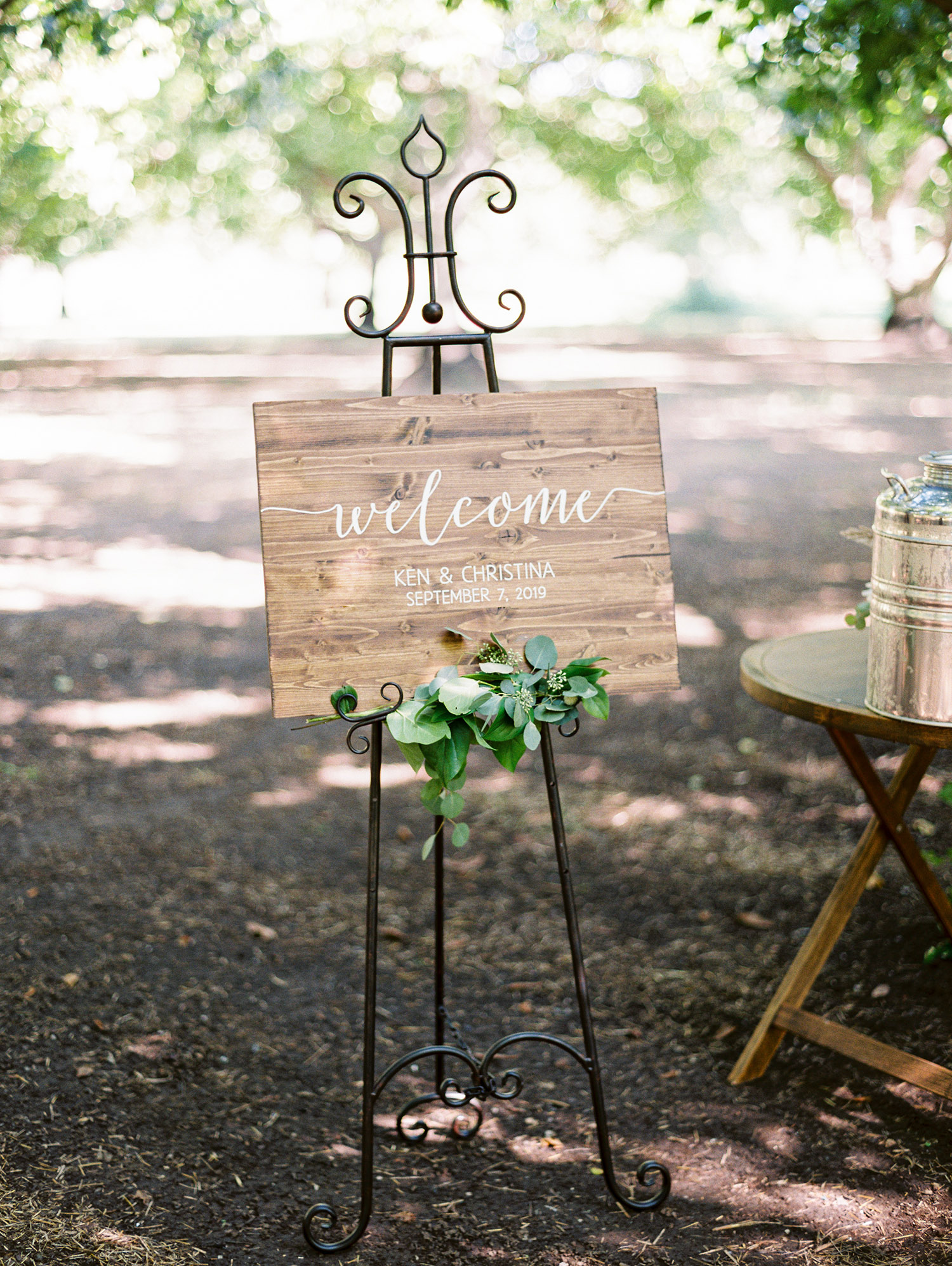 christina ken wedding welcome sign