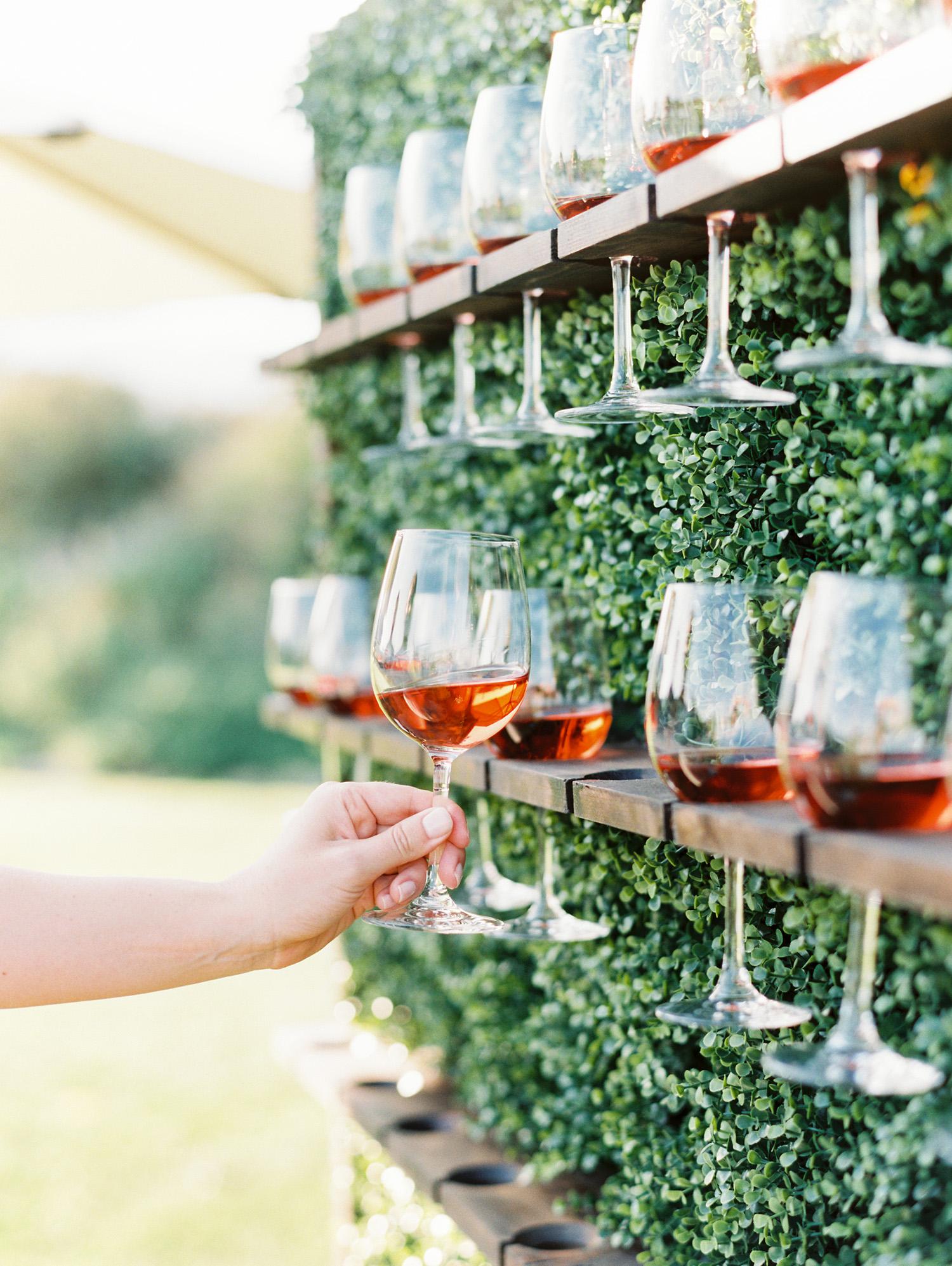 christina ken wedding wine wall
