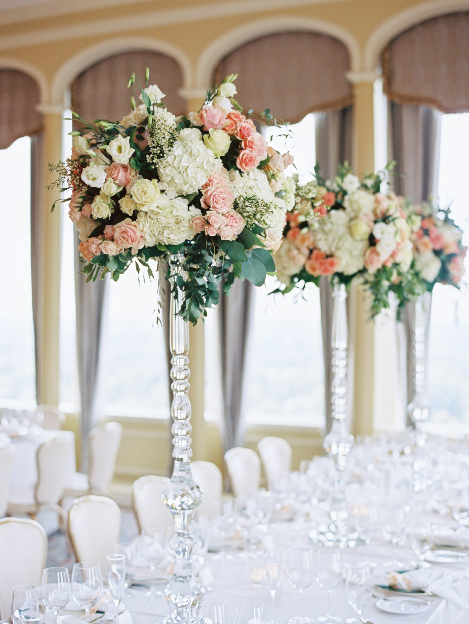 erinn andrew wedding reception floral centerpieces
