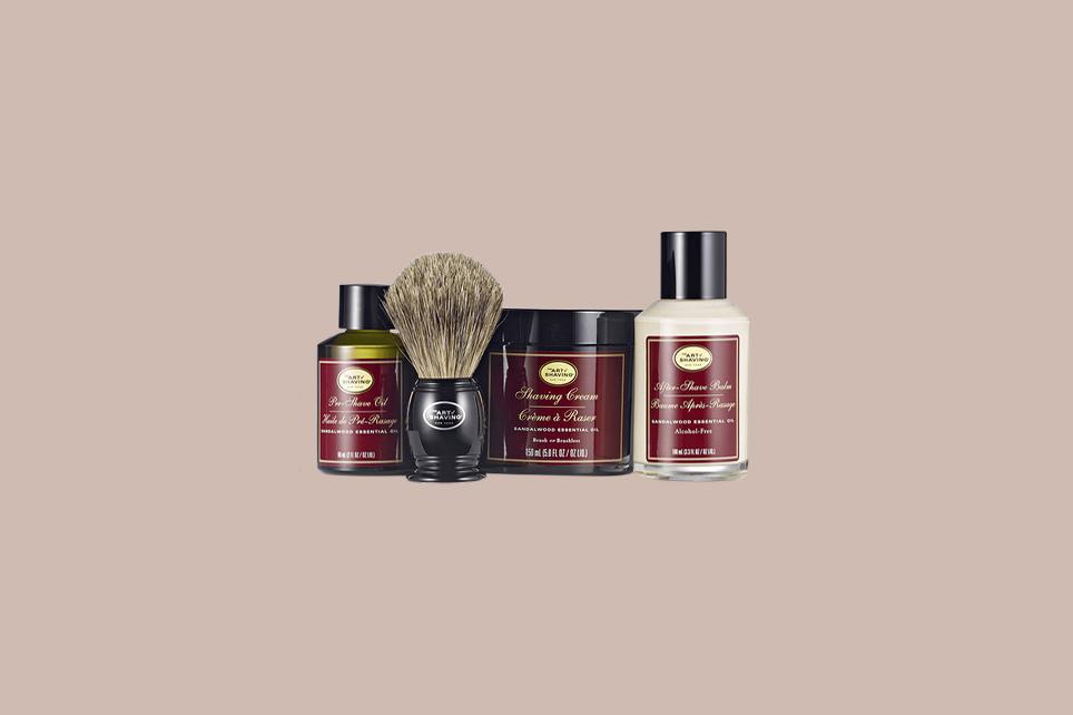 The Art of Shaving Sandalwood 4 Elements Bundle with Genuine Badger Brush