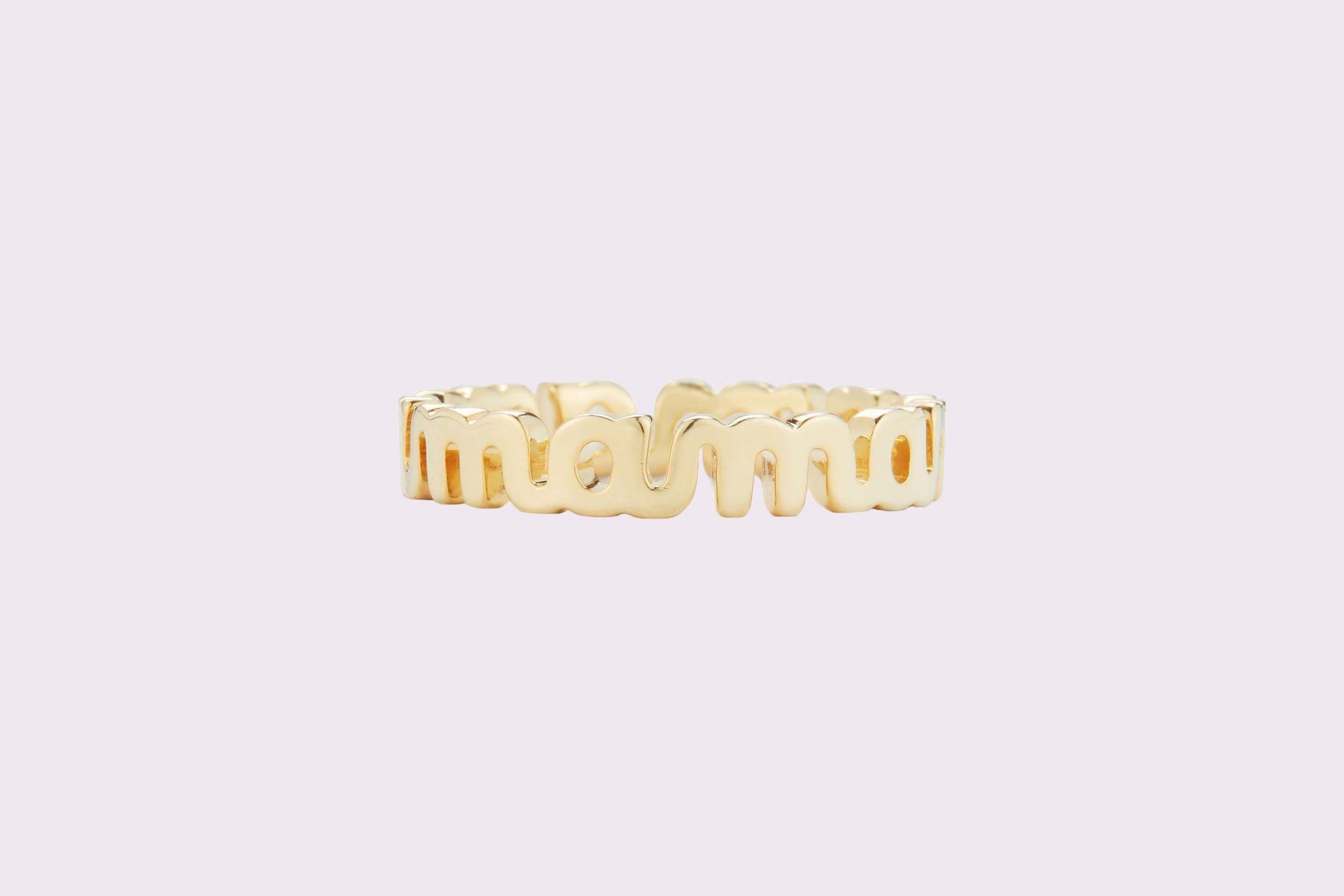 """gold """"mama"""" ring"""