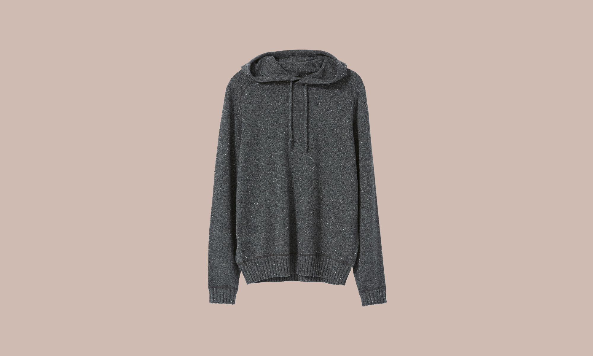 Everlane gray cashmere hoodie