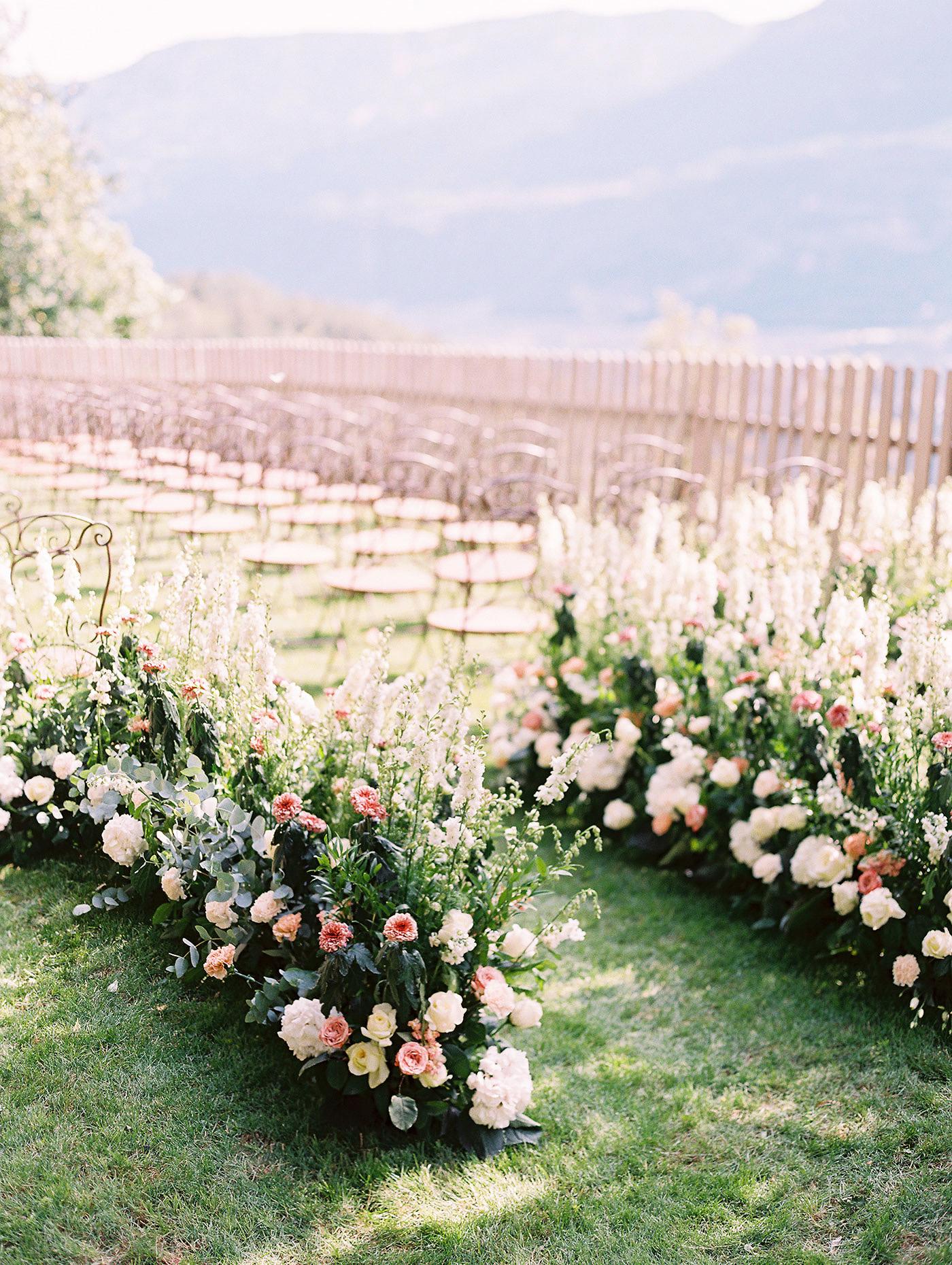 julia franz wedding aisle
