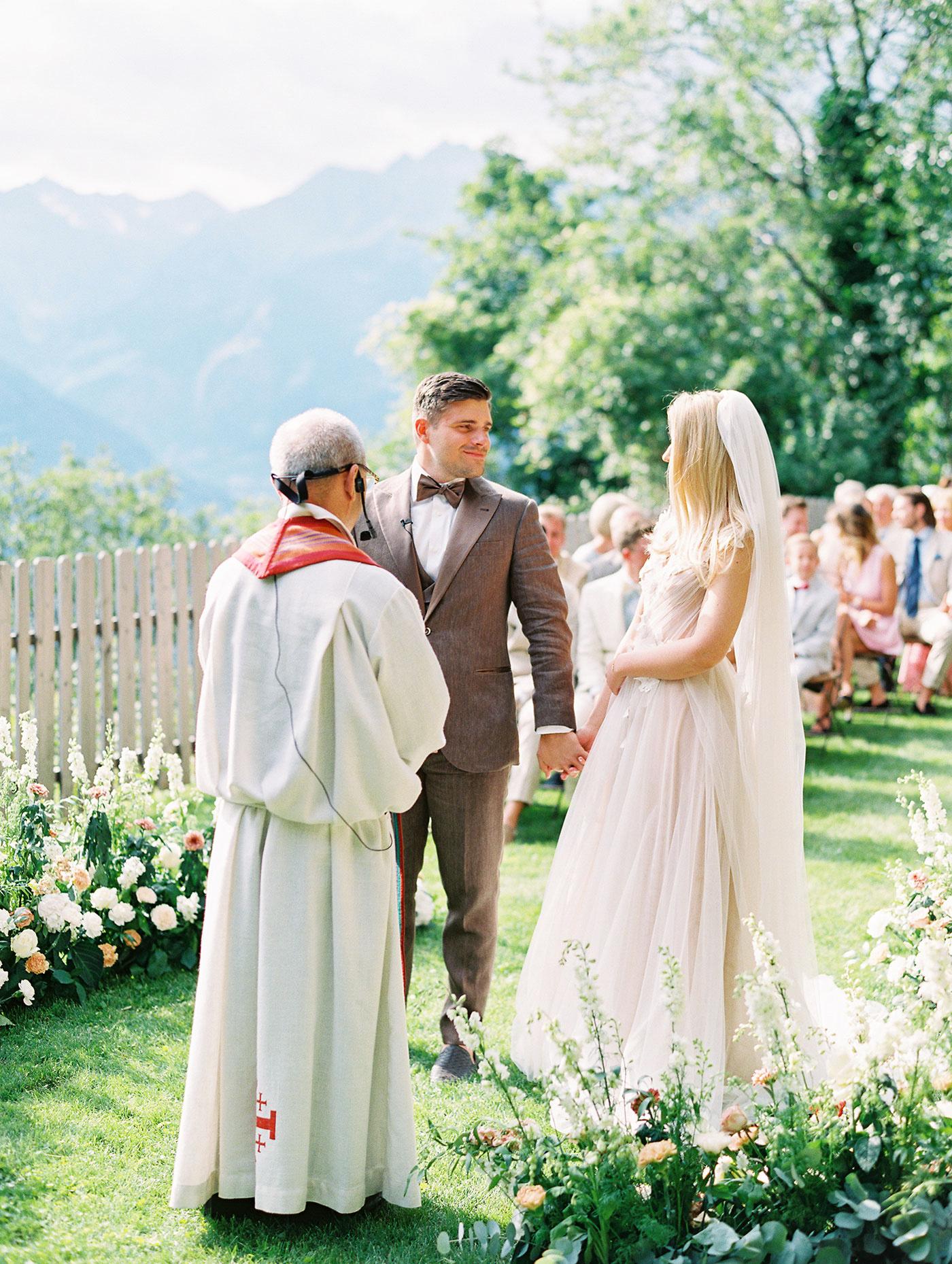 julia franz wedding ceremony couple officiant