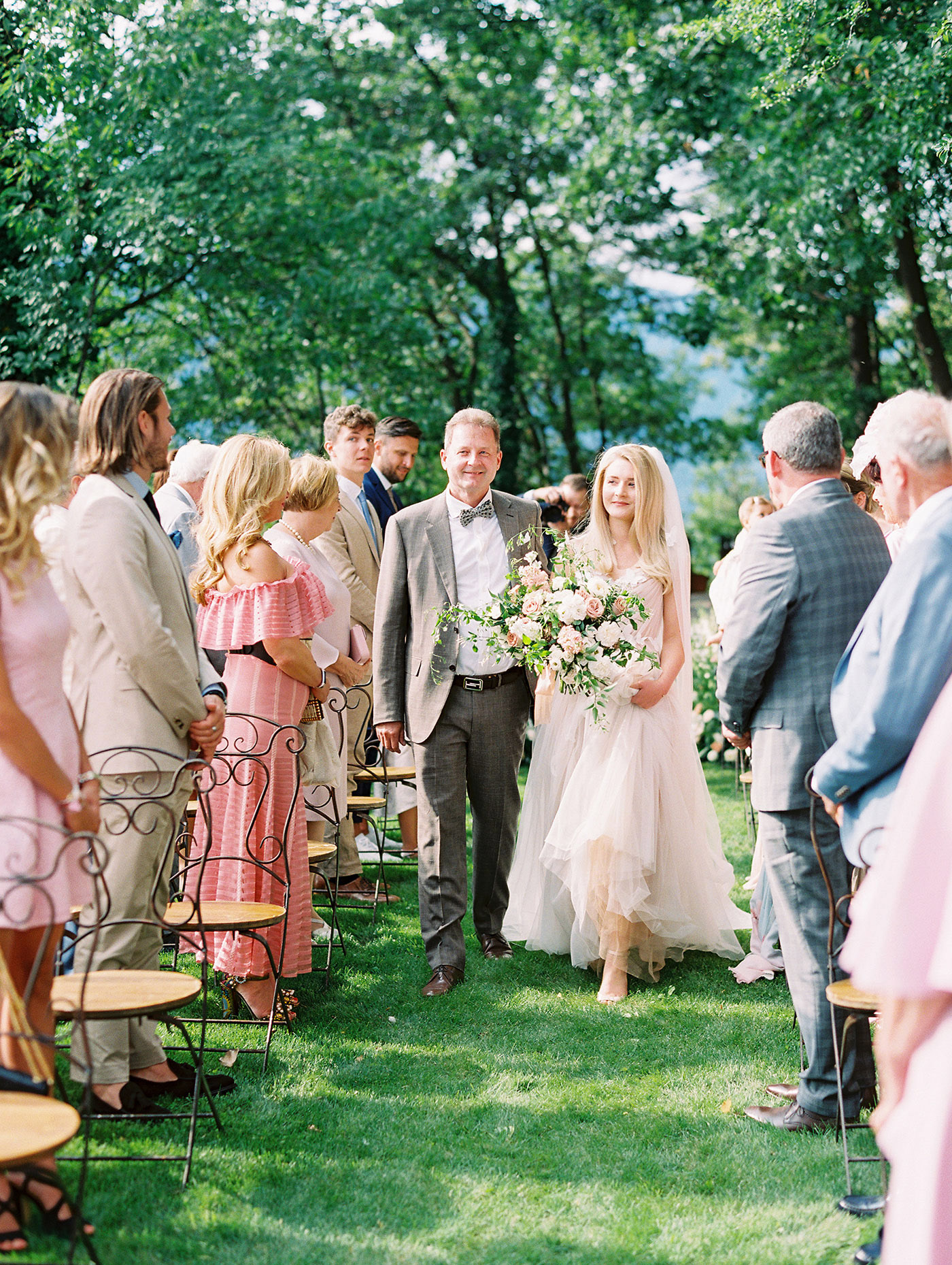 julia franz wedding dad bride walking down aisle