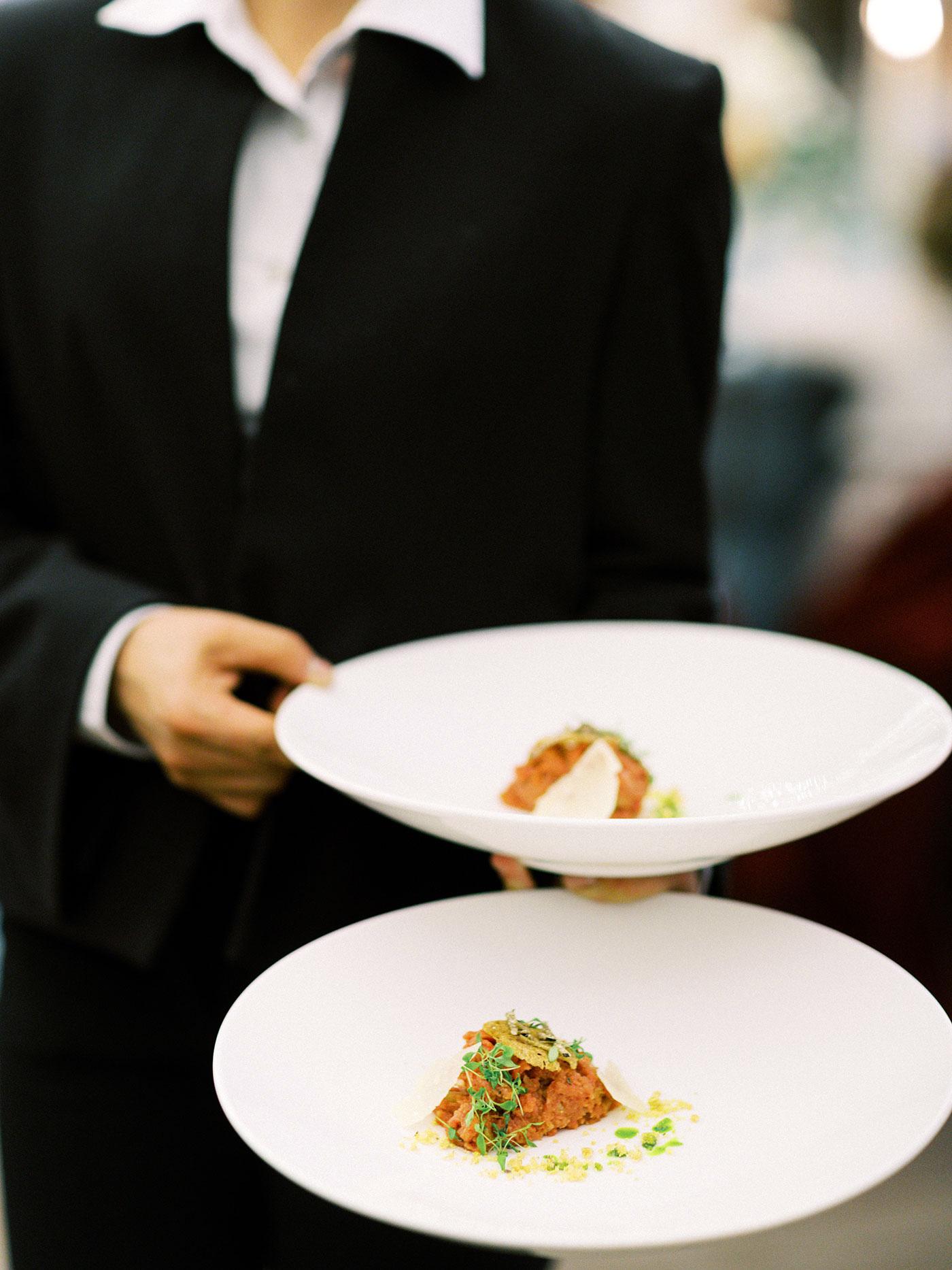 julia franz wedding food