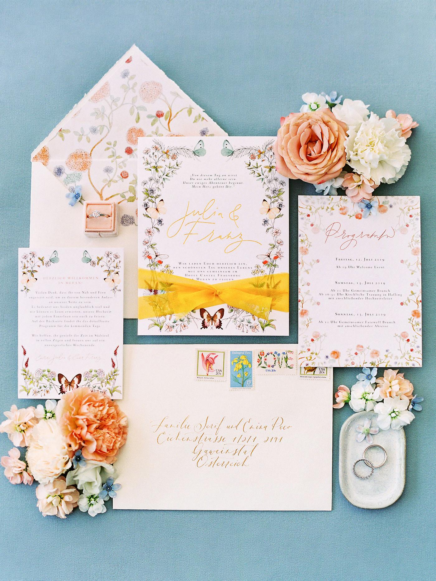 julia franz wedding invites stationery