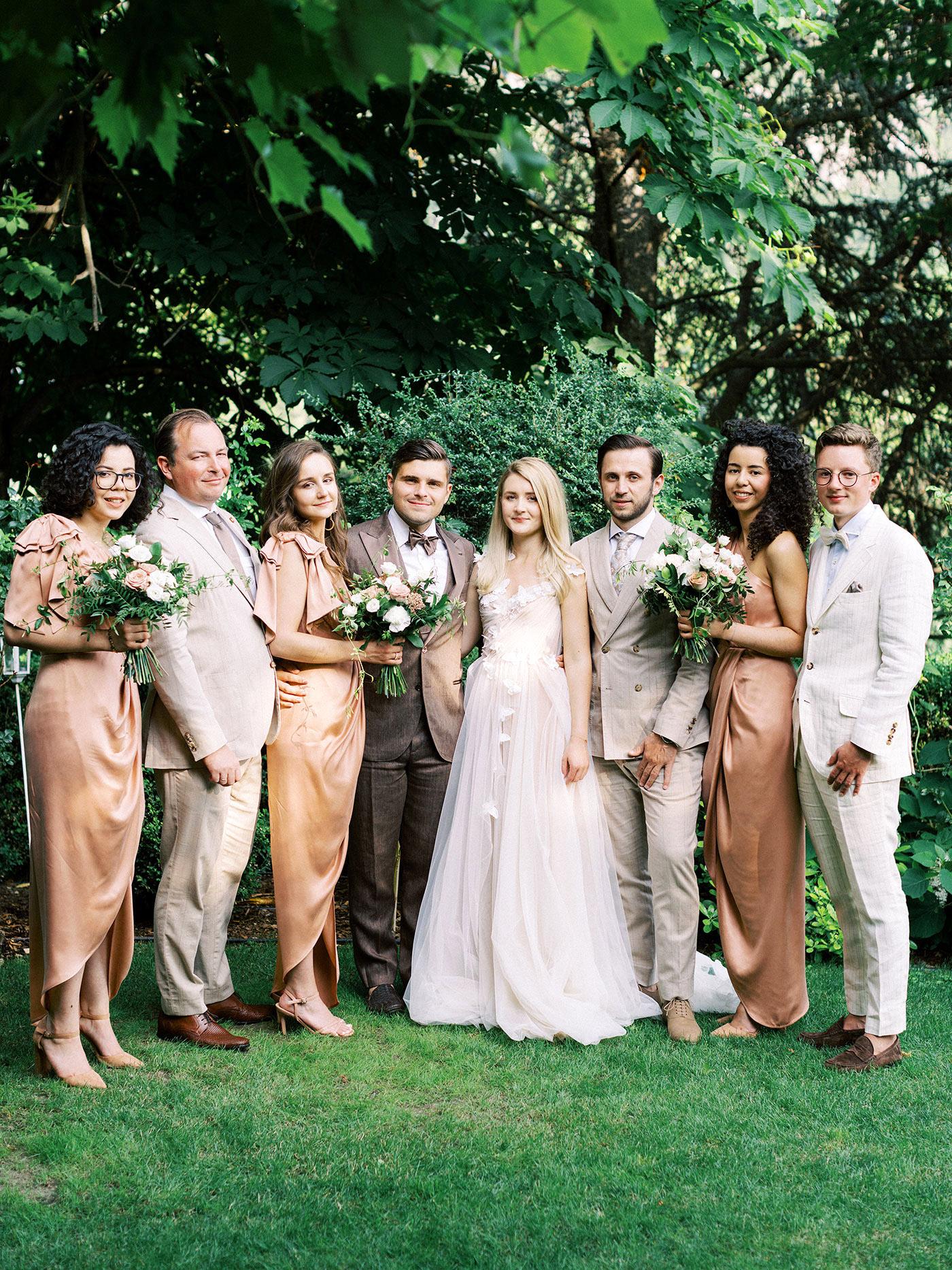 julia franz wedding party