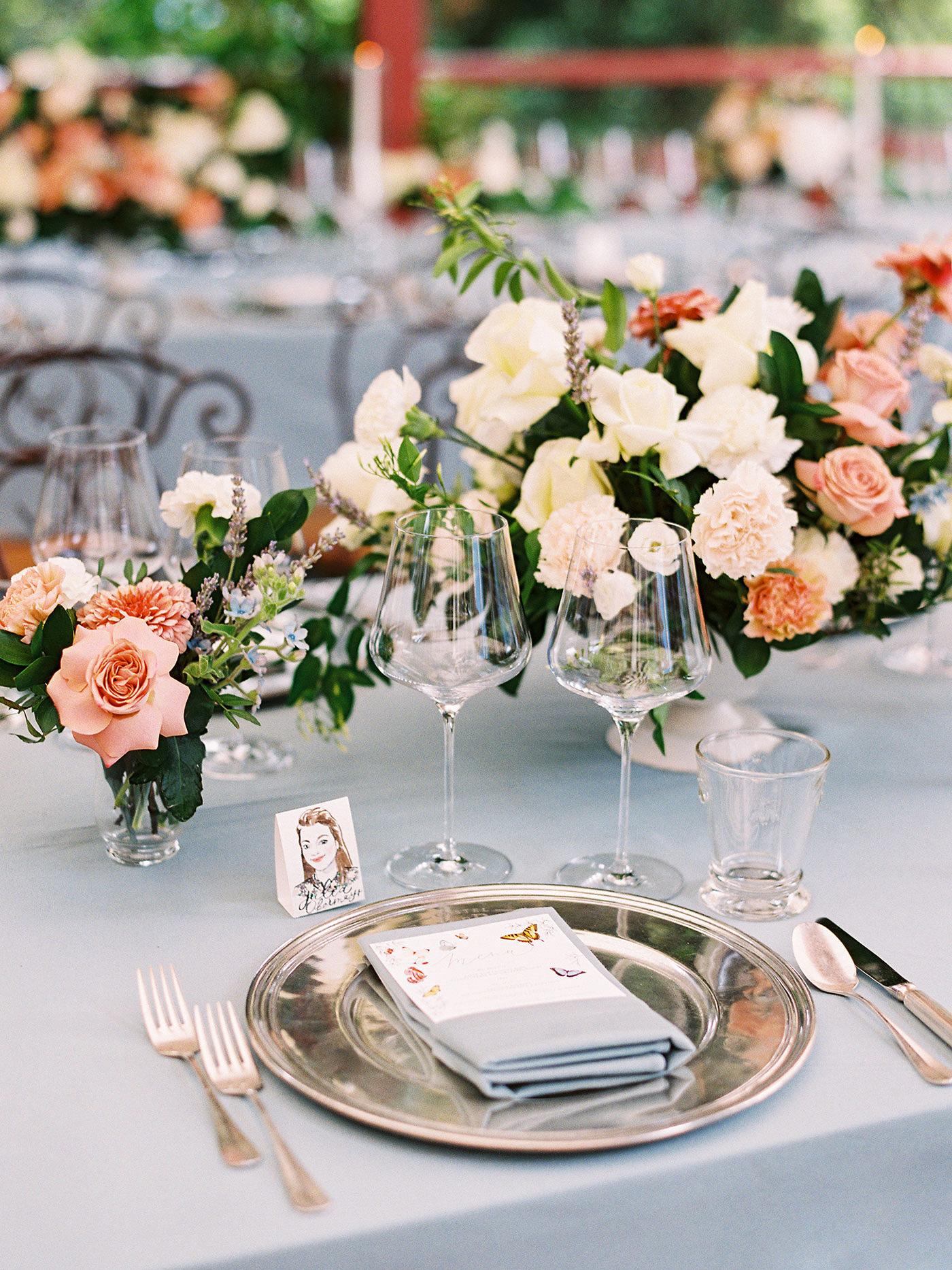 julia franz wedding reception place setting