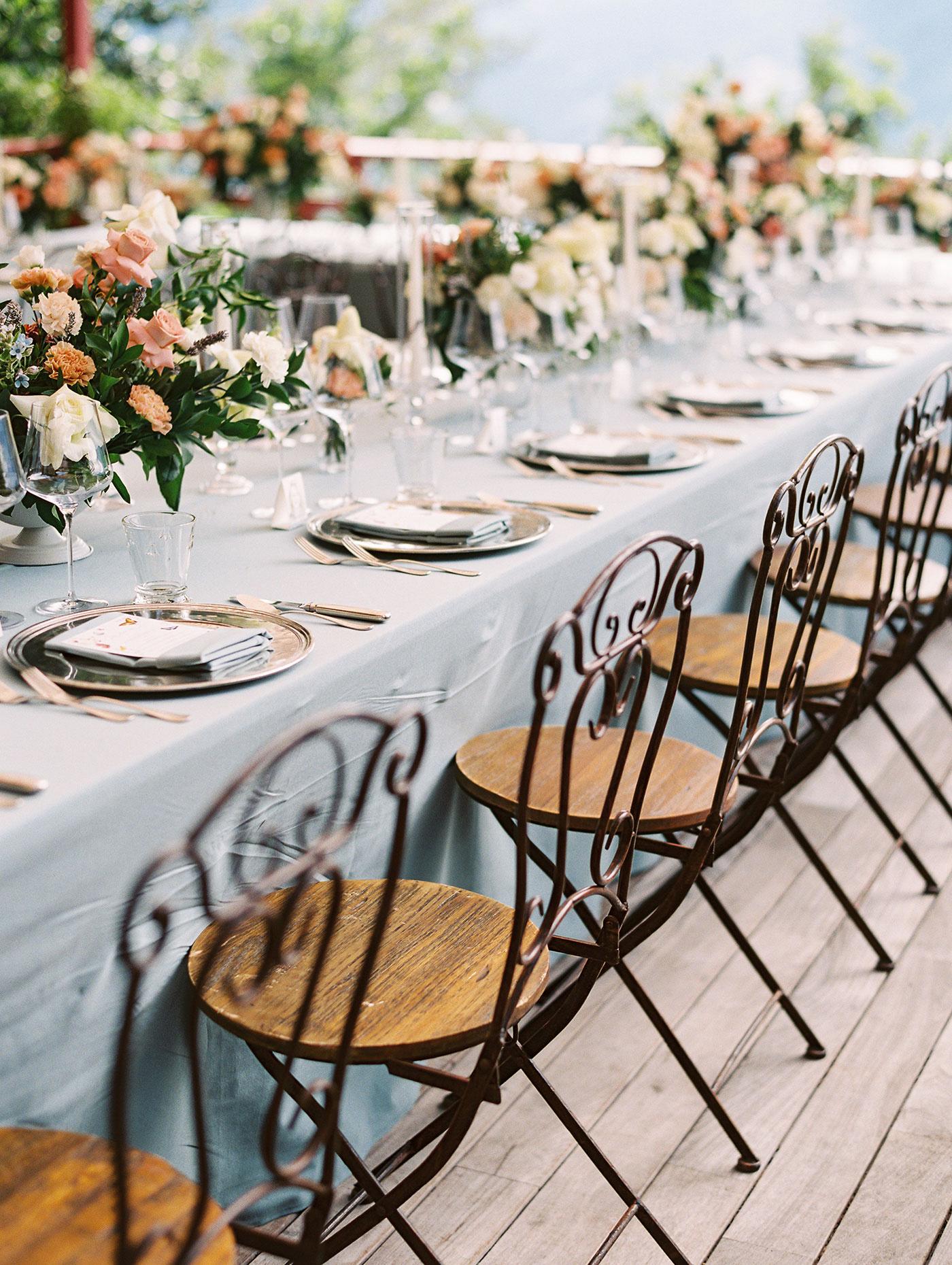 julia franz wedding reception tables