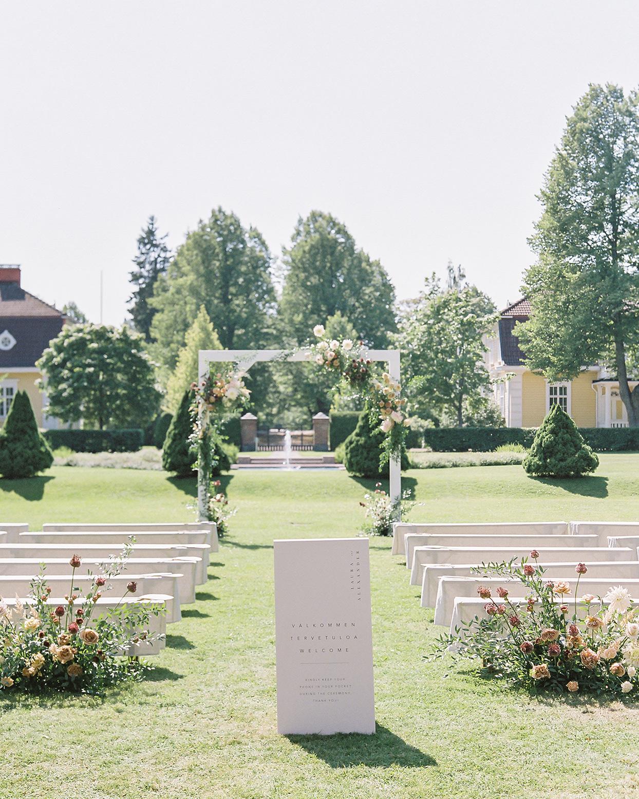 laura alexander wedding outdoor ceremony space