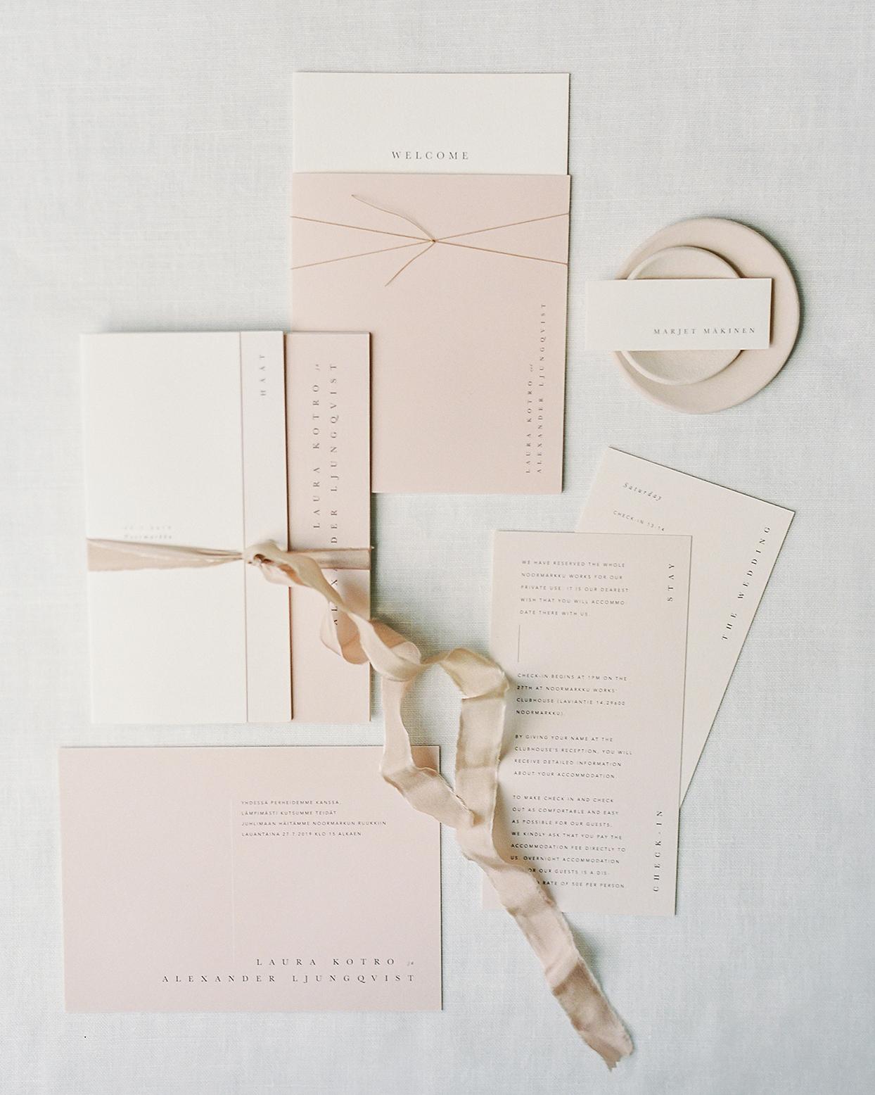 laura alexander mauve wedding invitations
