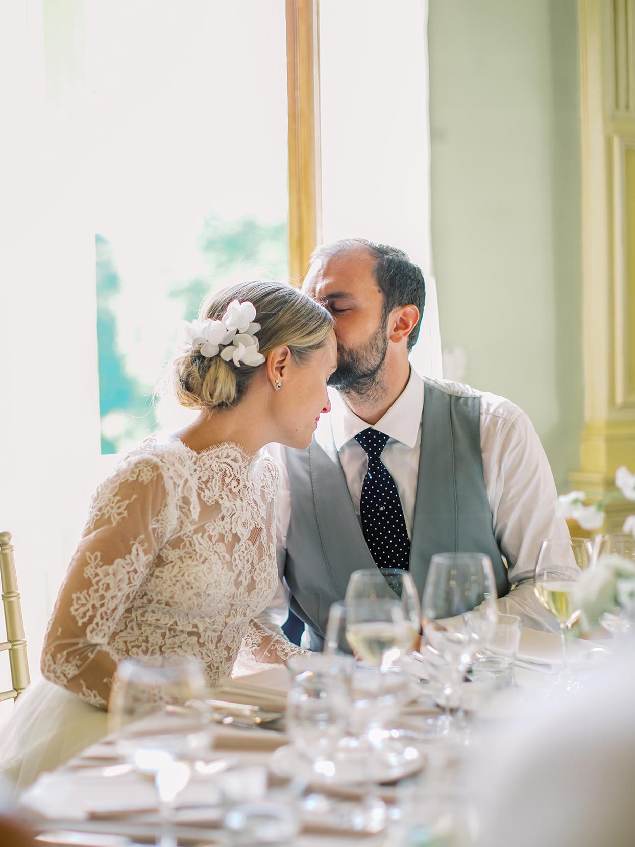 laura alexander wedding speech couple at table
