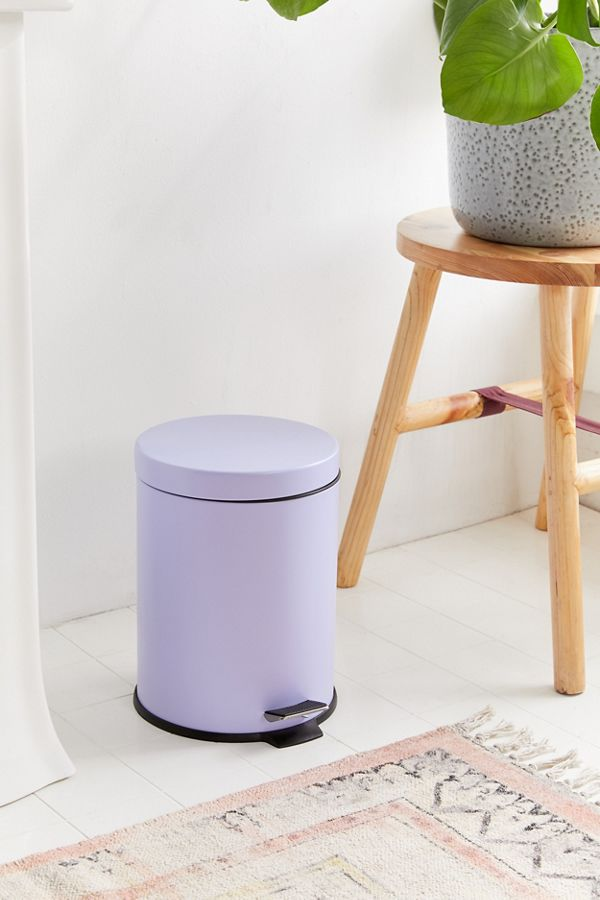 Lilac Color Round Top Step Trash Can