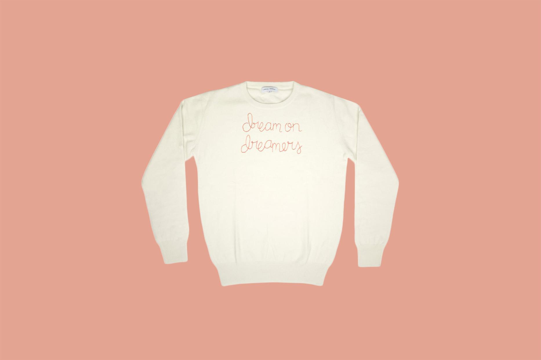 dreams on dream cream colored sweater
