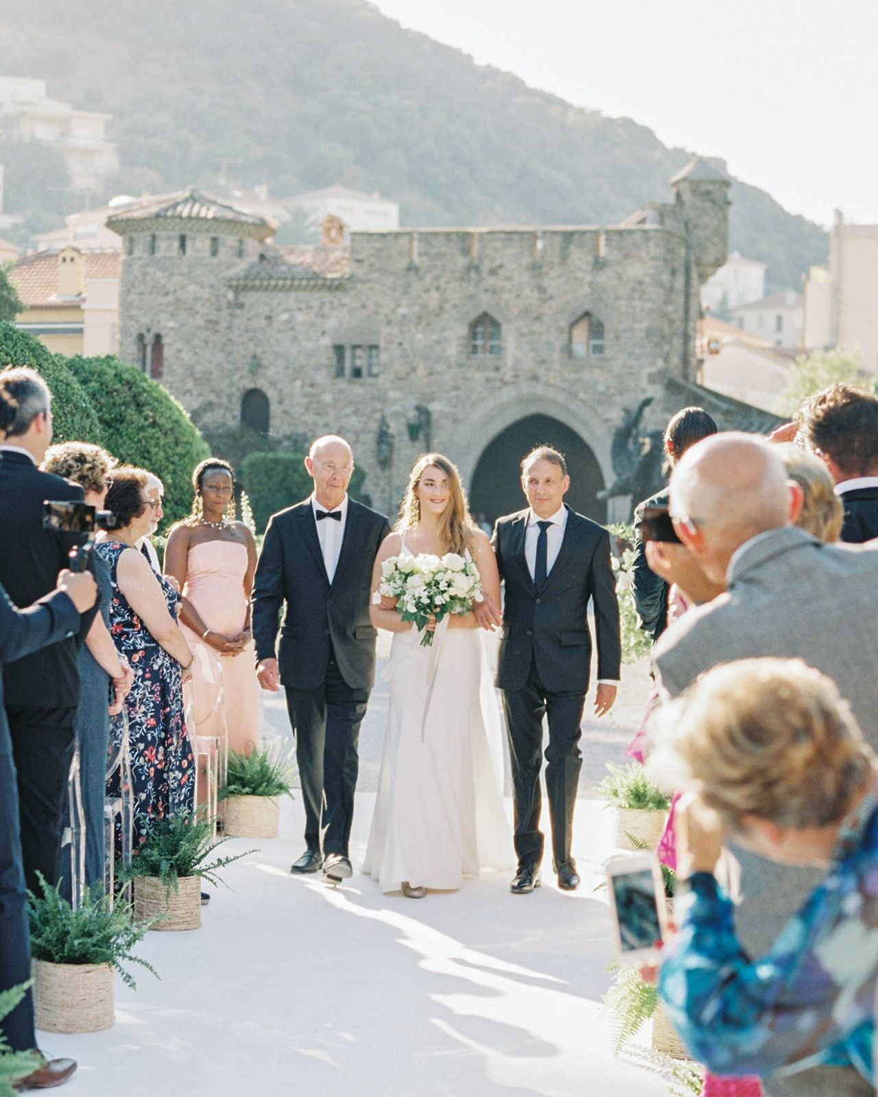 wedding processional father grandfather walk bride