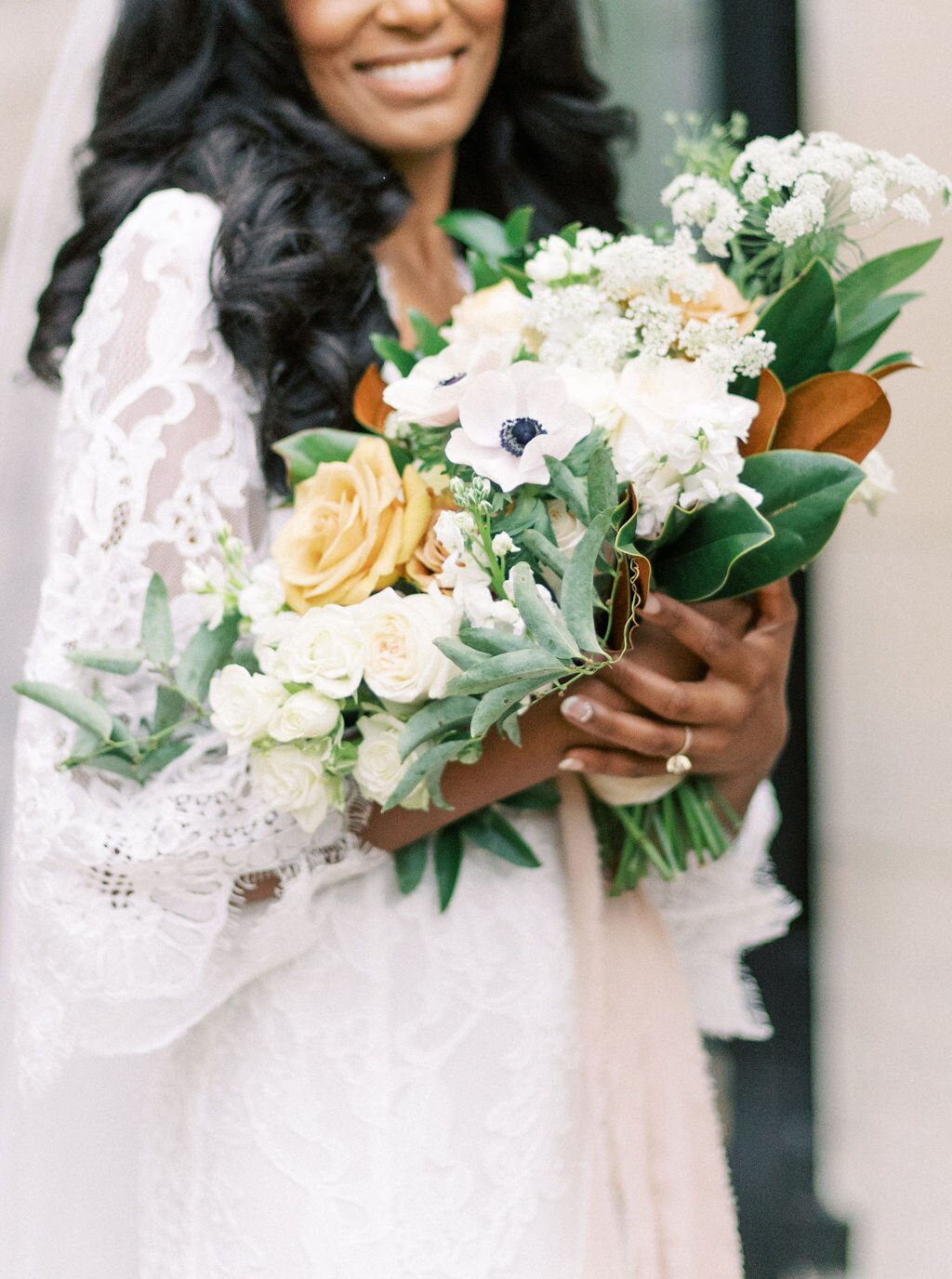 megan henock wedding bridal bouquet