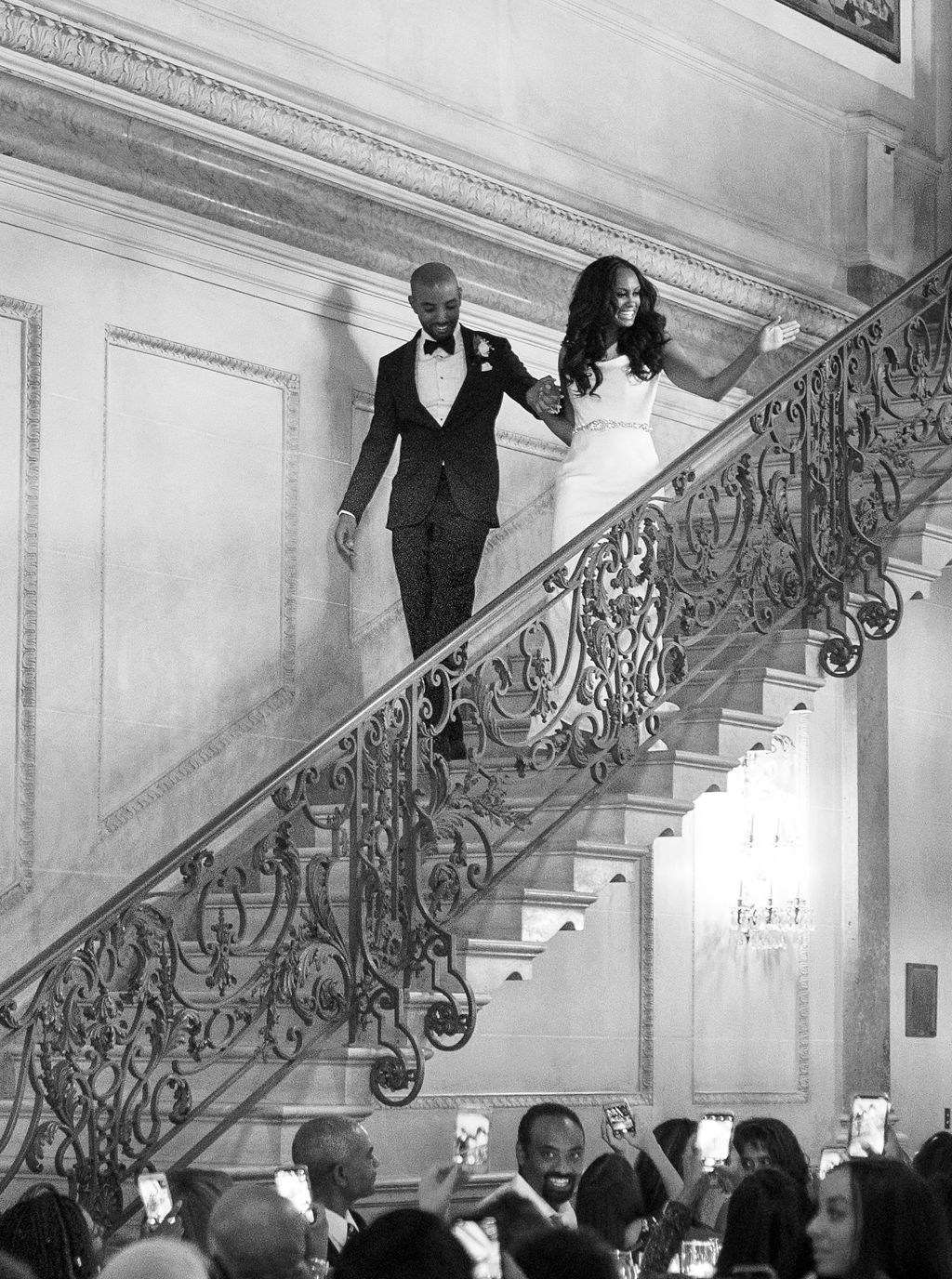 megan henock wedding couple reception entrance