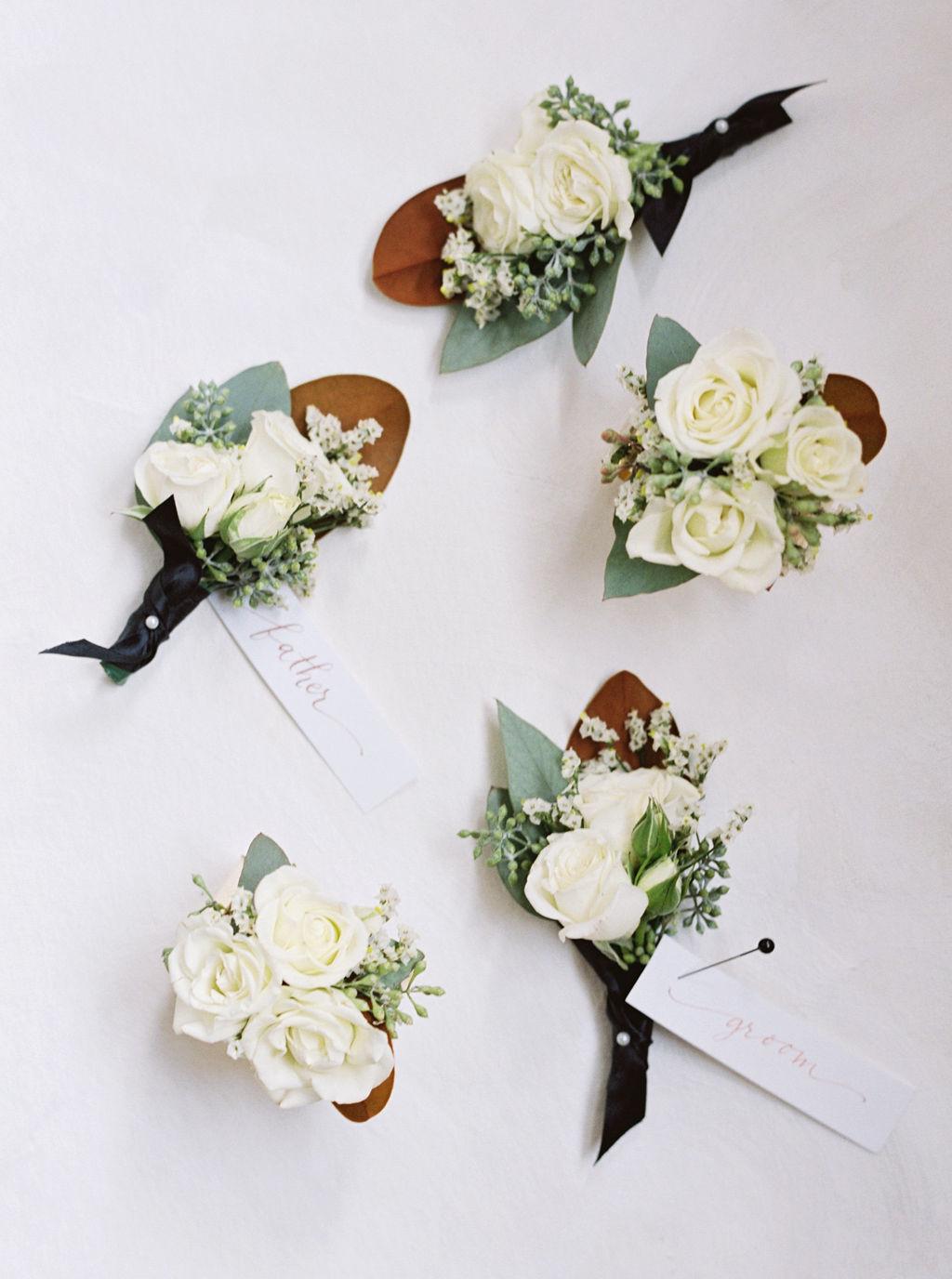 megan henock wedding groom boutonnieres