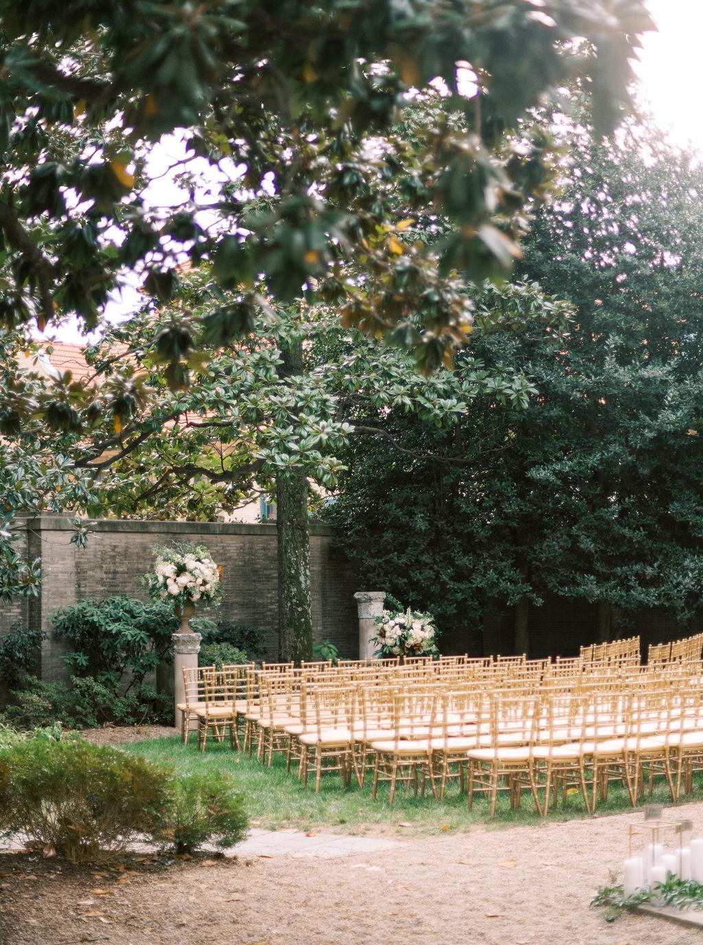 megan henock wedding ceremony location outdoor garden