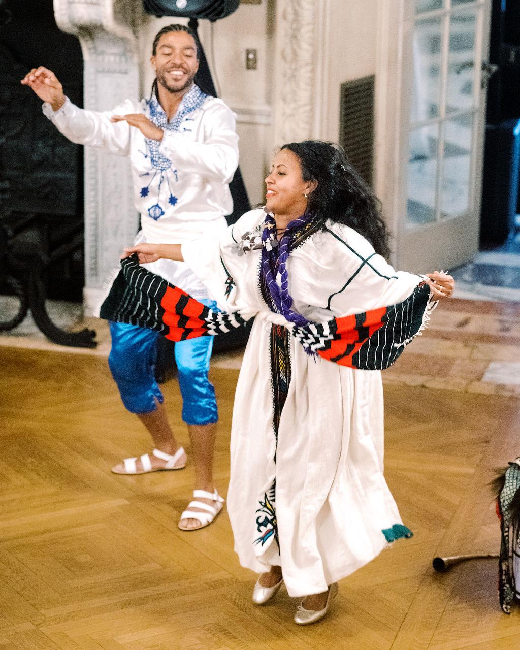 megan henock wedding reception Ethiopian dancers