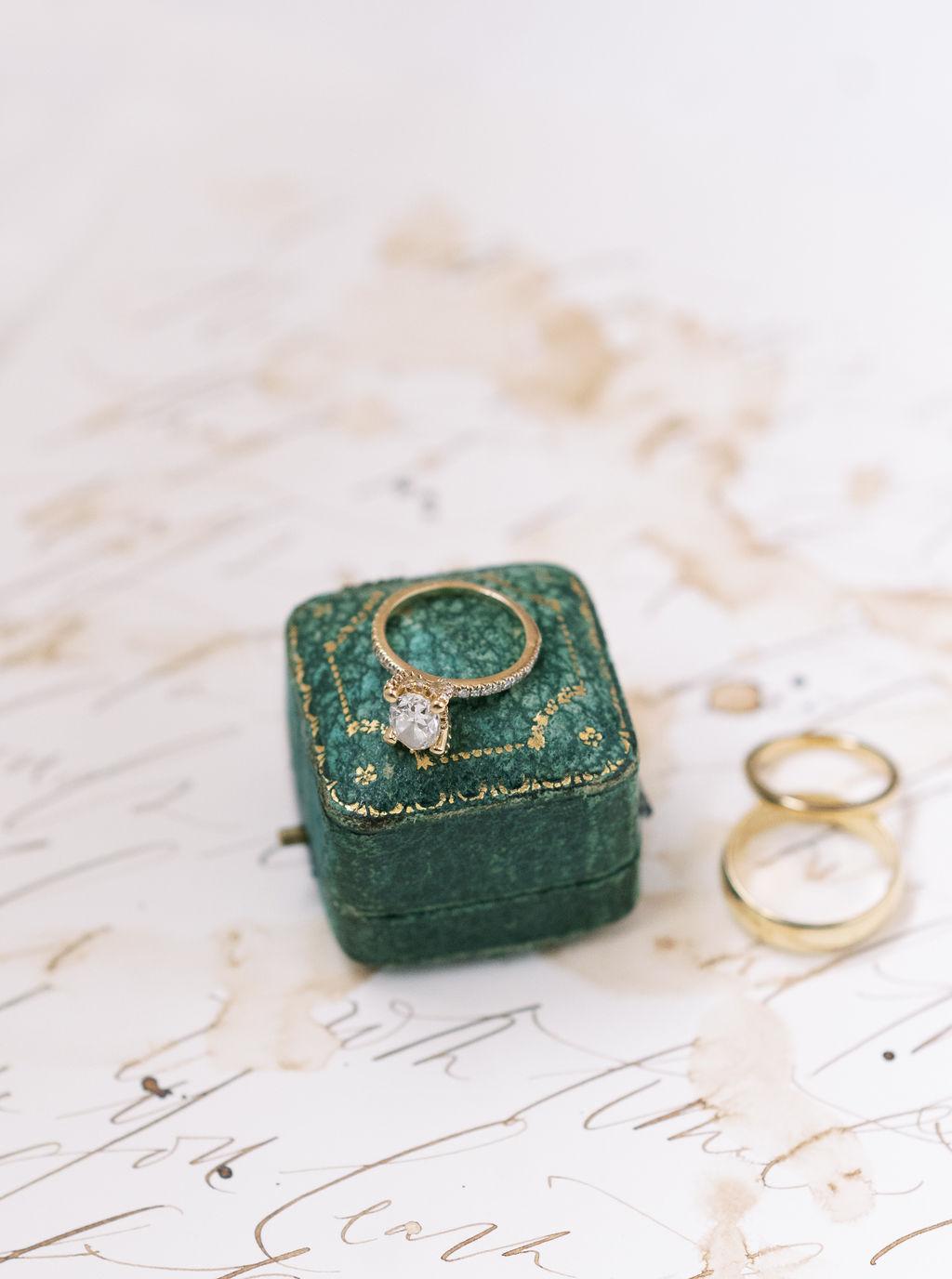 megan henock wedding golden band diamond ring