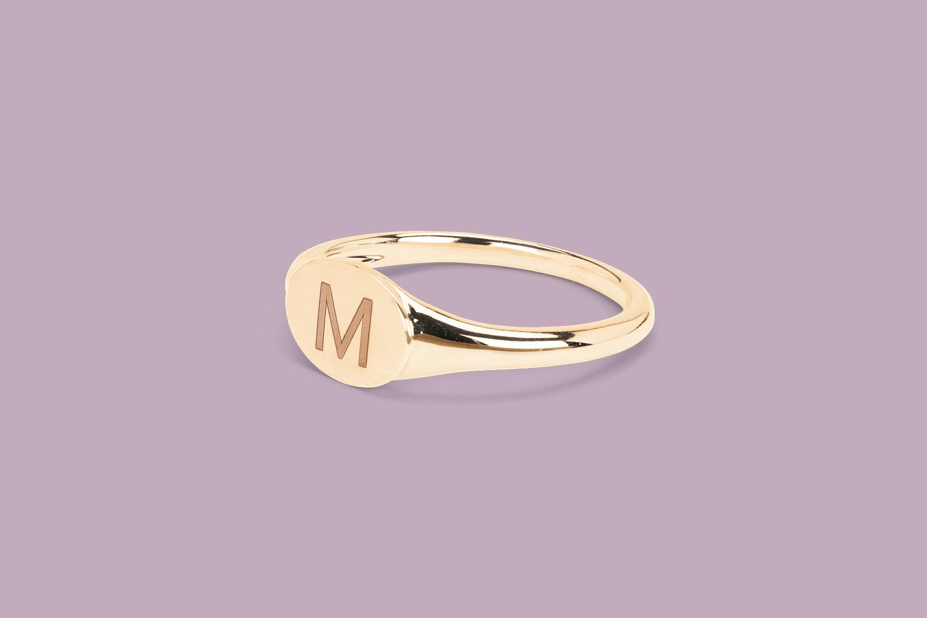 mejuri gold signet ring
