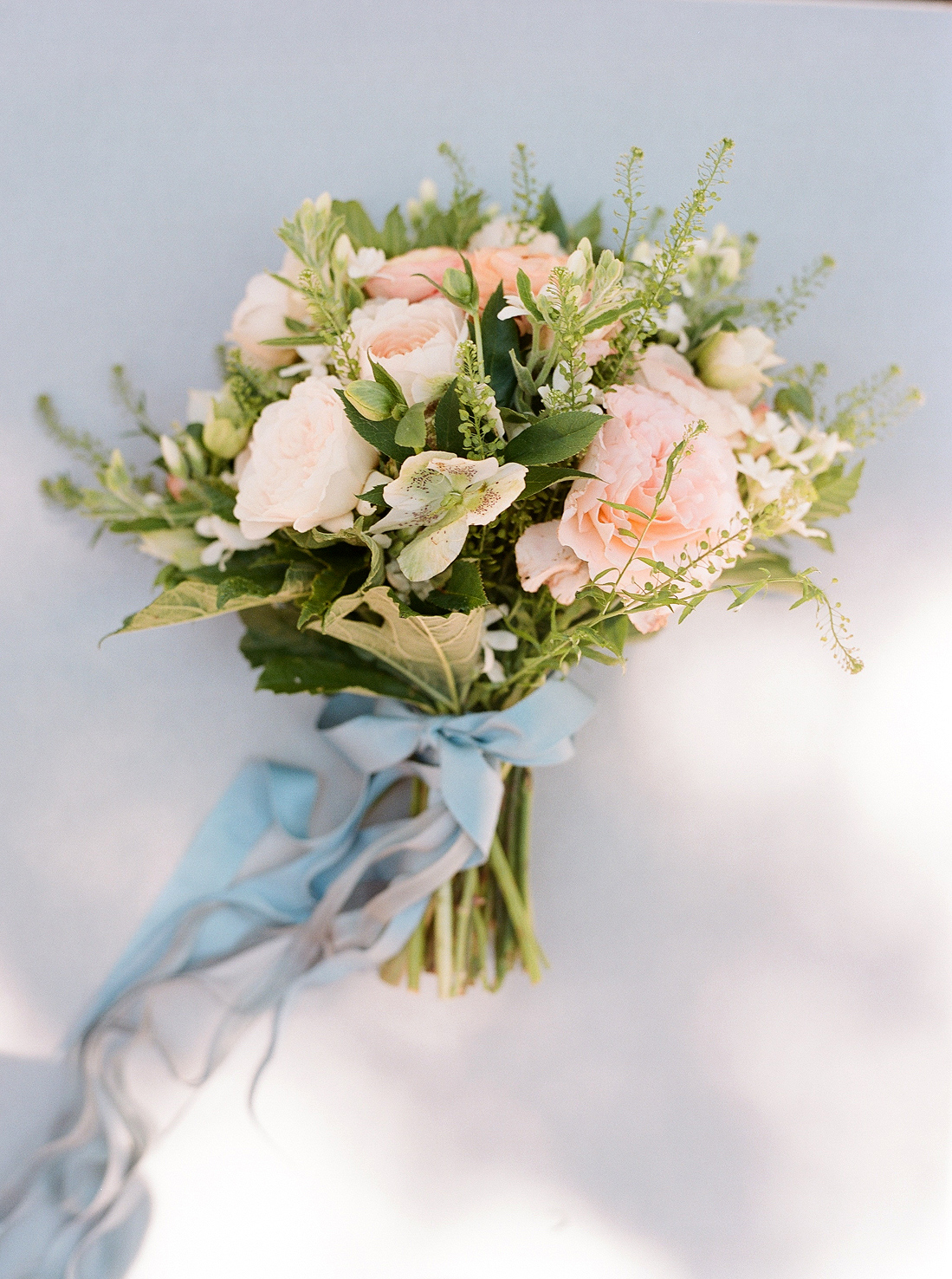 Natalie and Grant wedding bridal bouquet with ranunculus, roses and freesia