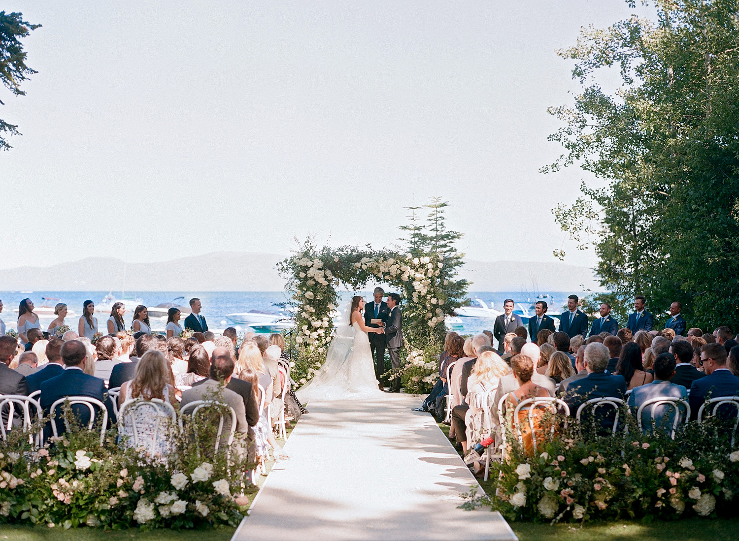Natalie and Grant wedding ceremony outdoors near Lake Tahoe