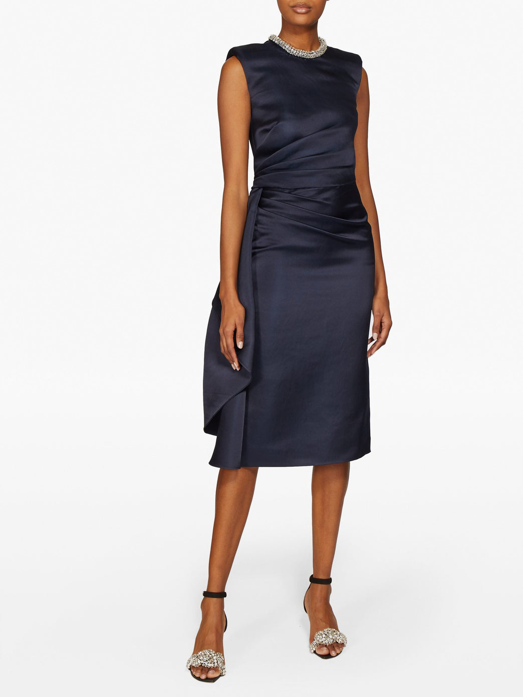 Alexander McQueen Satin Knee-Length Dress