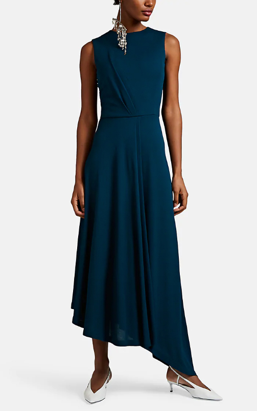 Givenchy Draped Crepe Asymmetric Dress