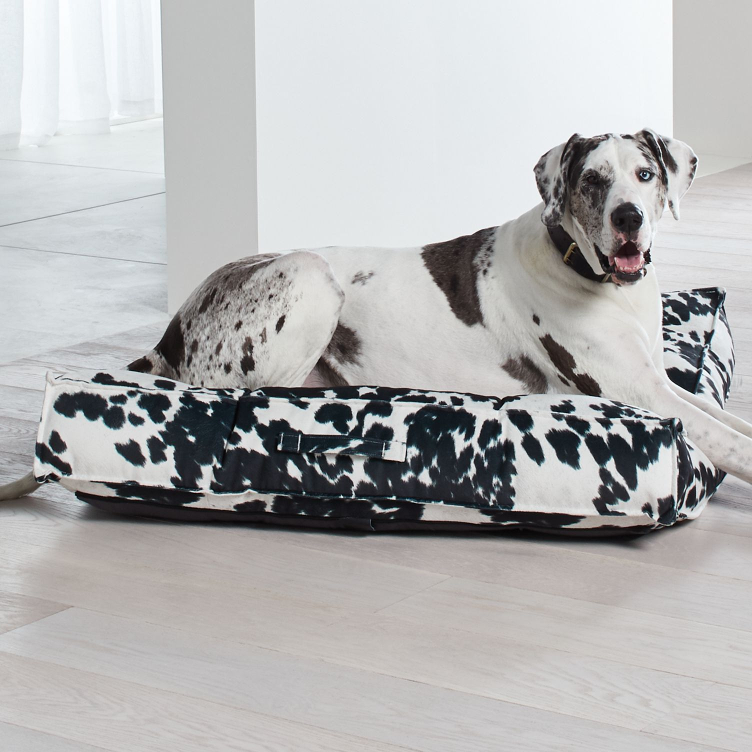 "Crate and Barrel ""Piazza"" Tufted Dog Beds"