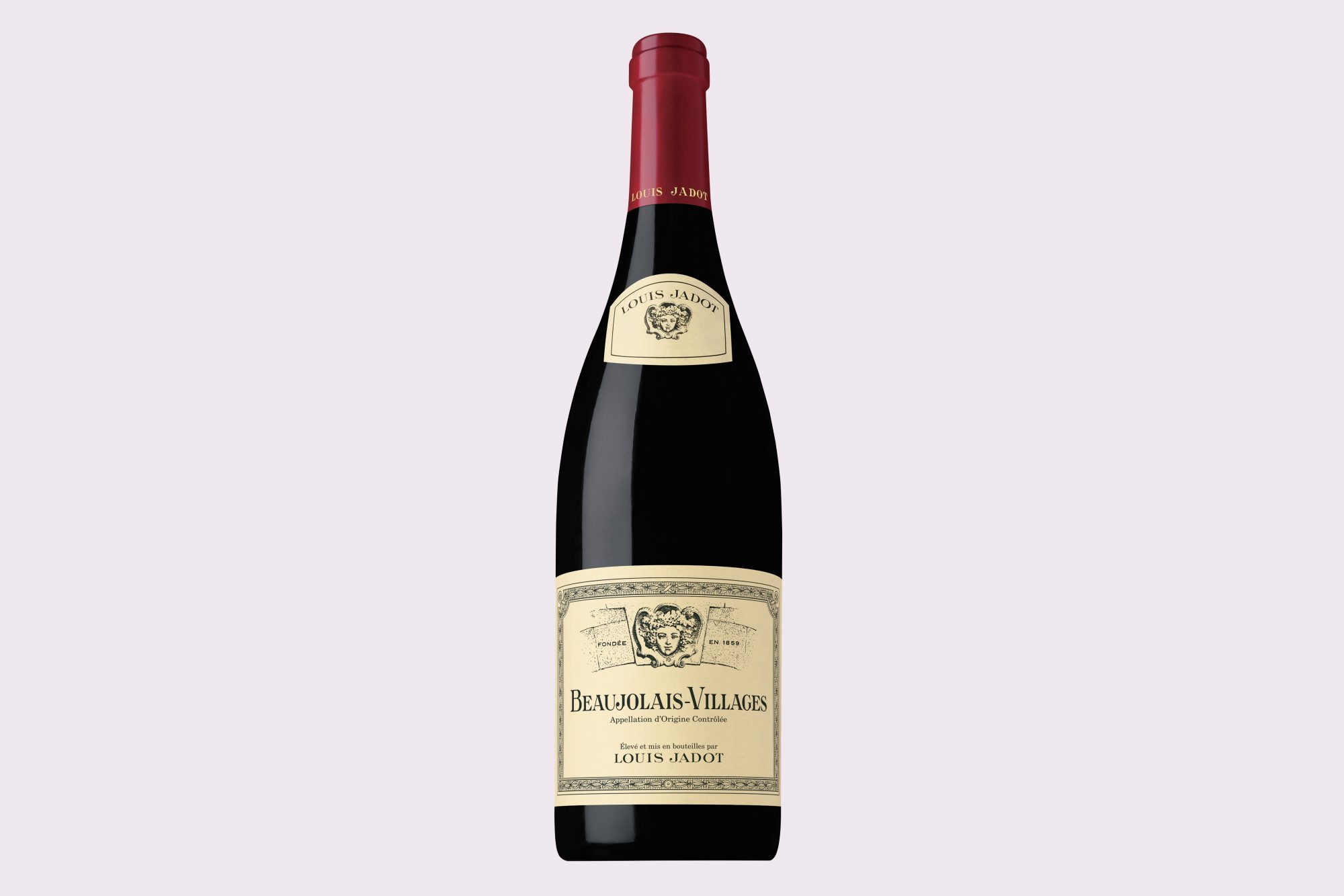 Beaujolais Villages Red wine bottle