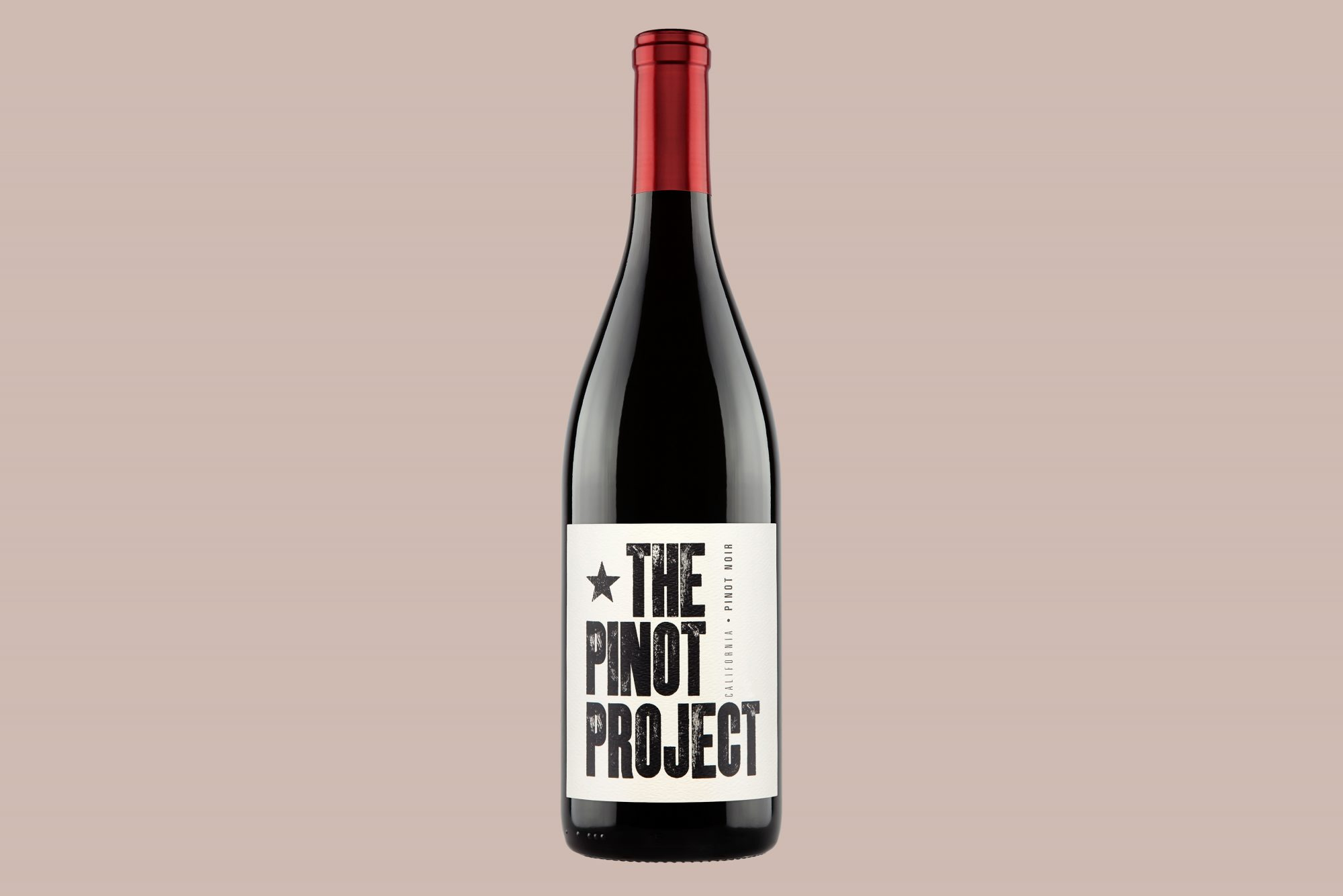 The Pinot Project red wine bottle