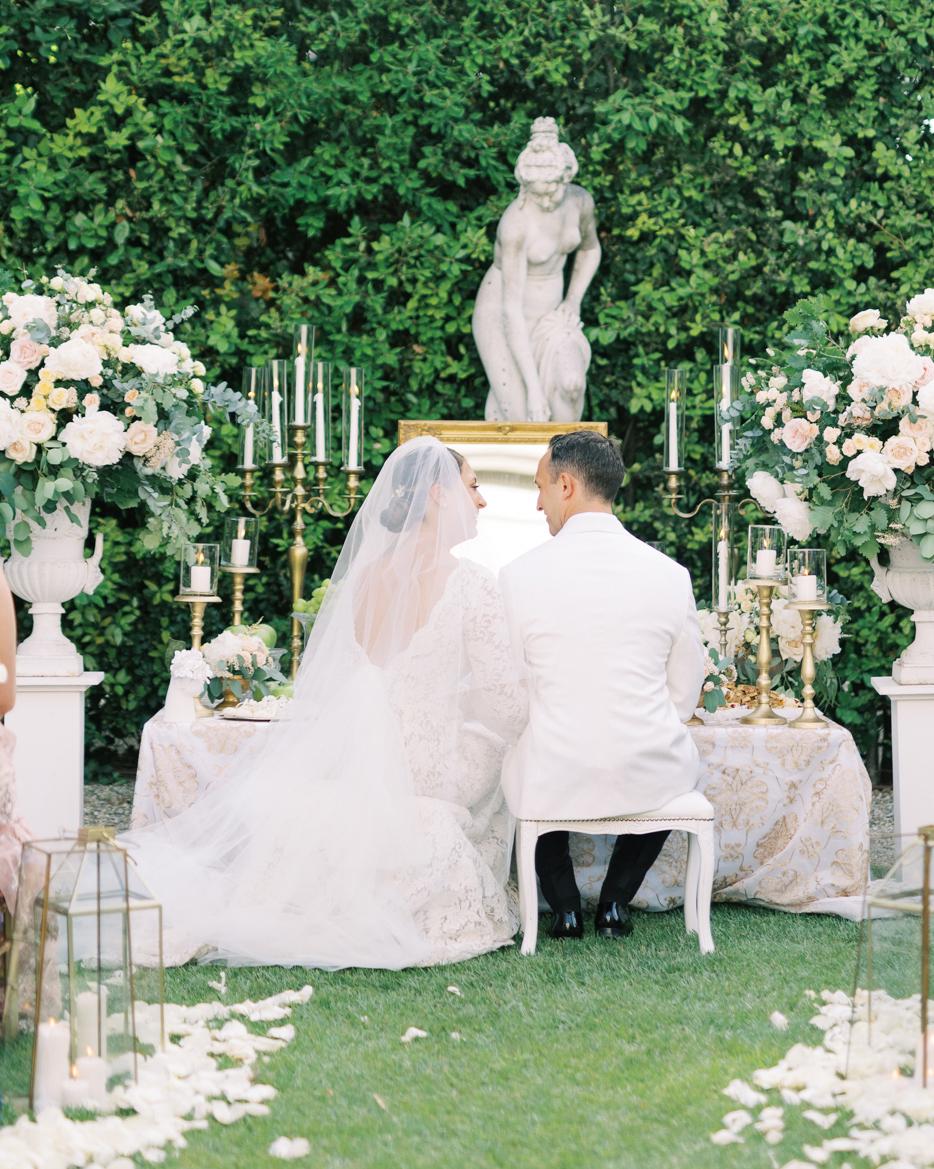 saghar ben wedding ceremony couple at table