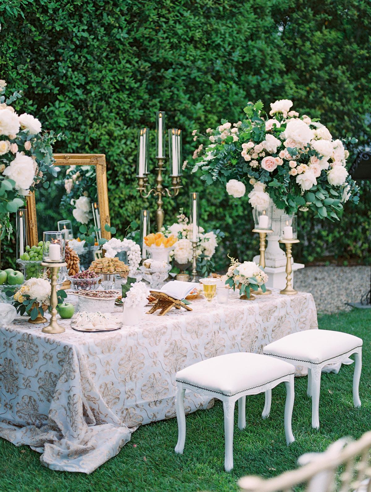 saghar ben wedding ceremony table space