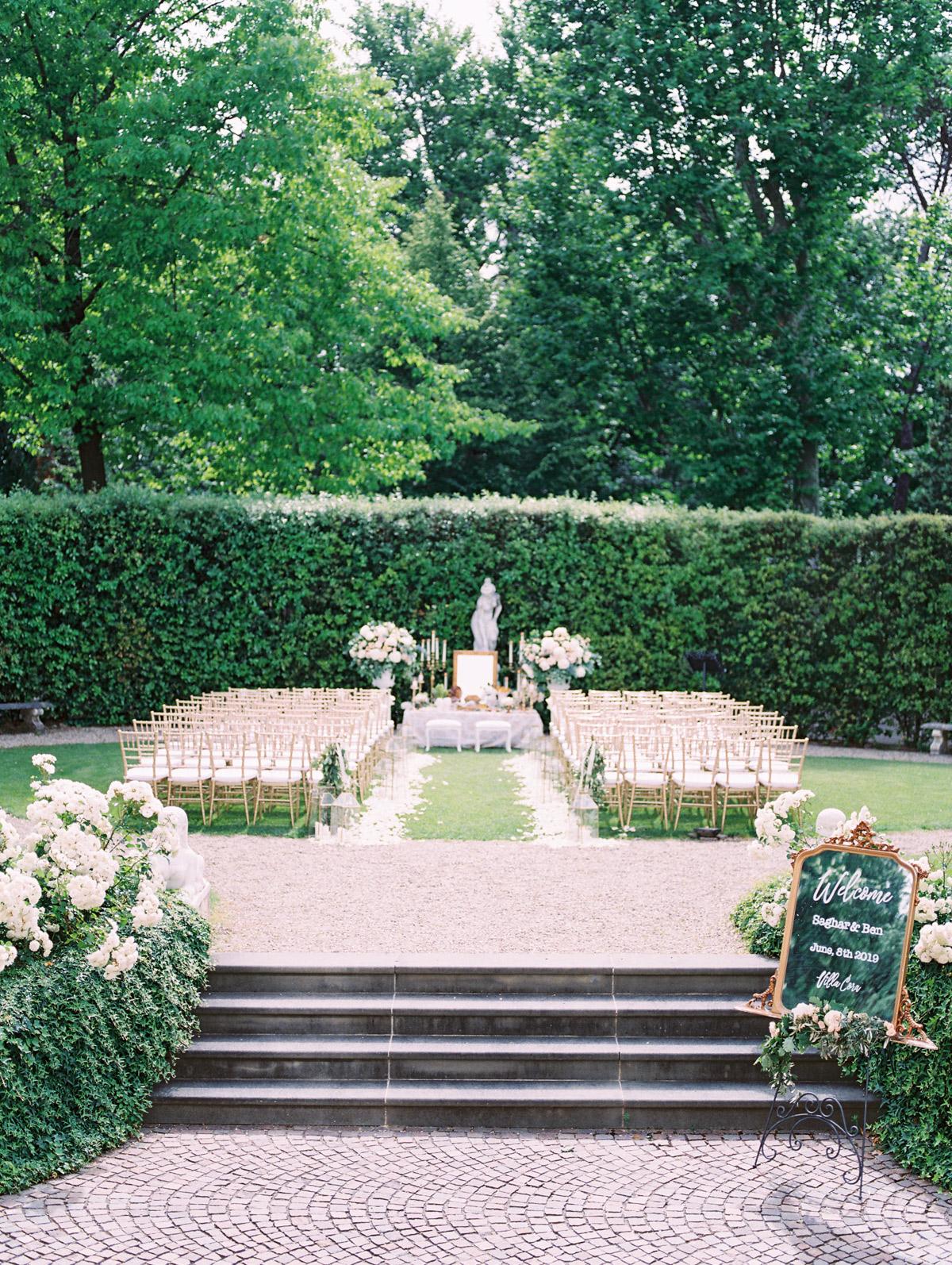 saghar ben wedding ceremony space garden