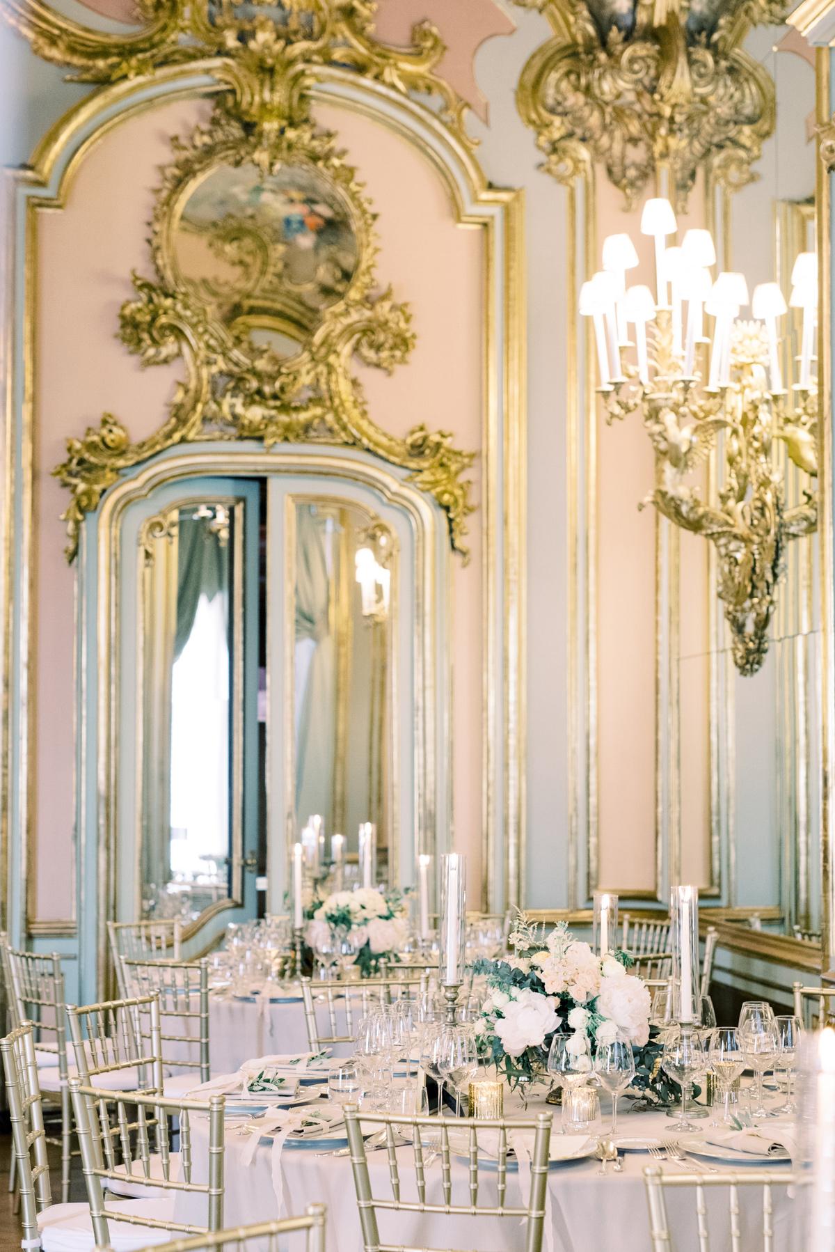saghar ben wedding reception elegant tables
