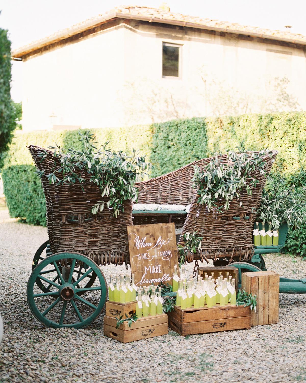 saghar ben wedding welcome dinner limoncello cart