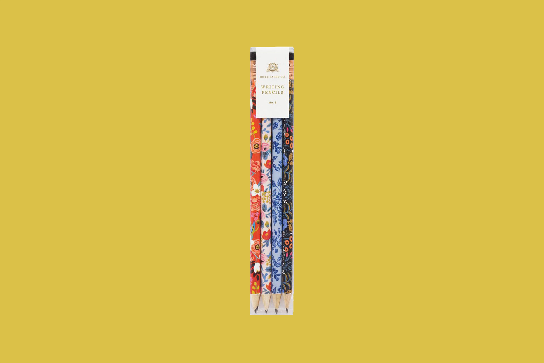 rifle paper go floral writing pencils