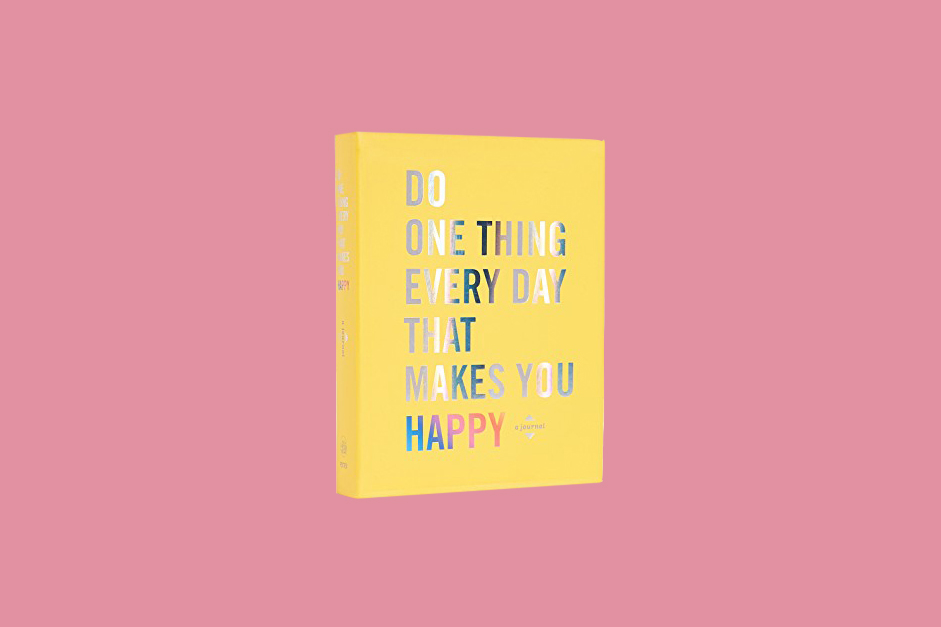 yellow happy journal