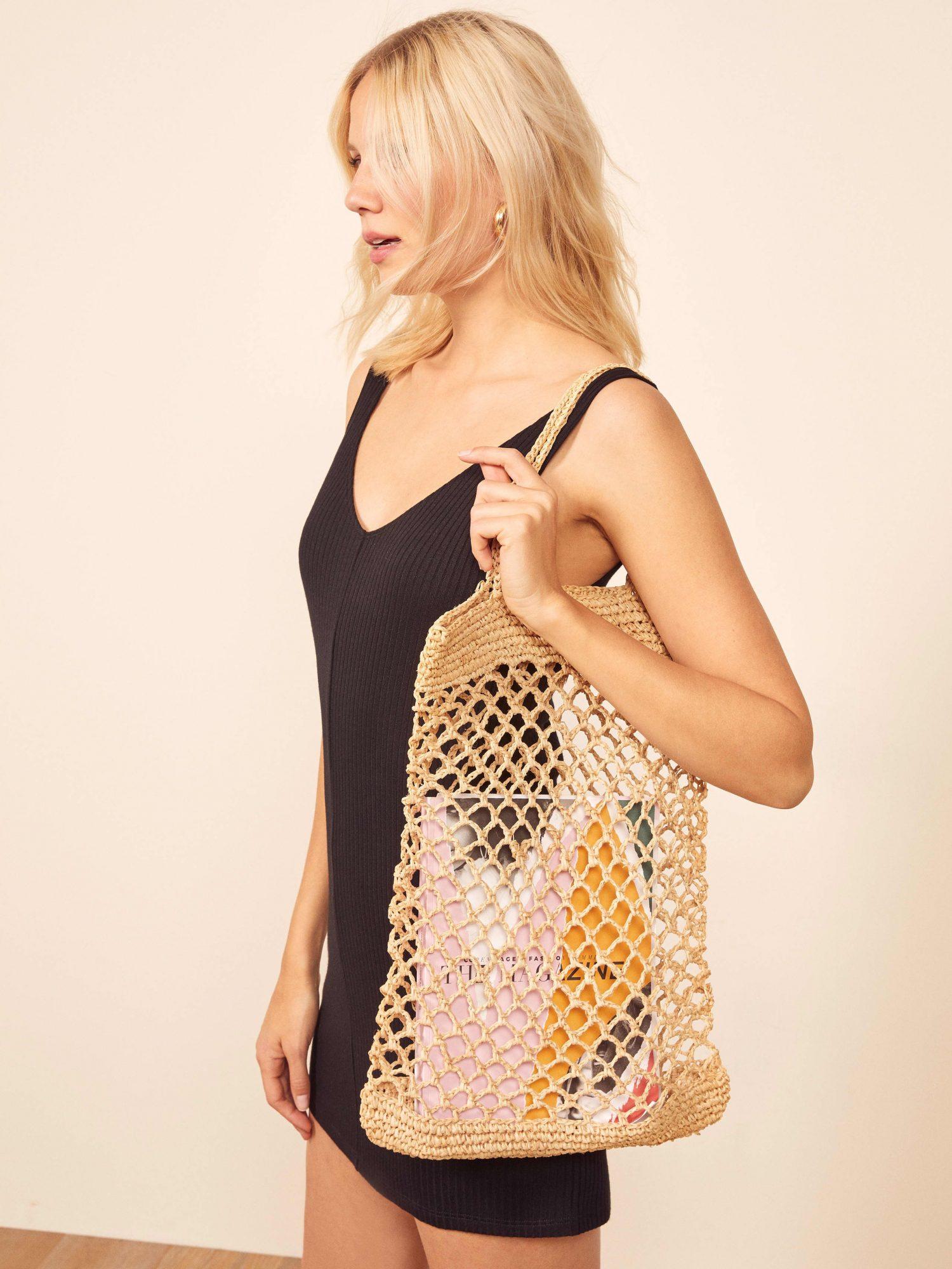 Reformation Straw Everyday Market Bag