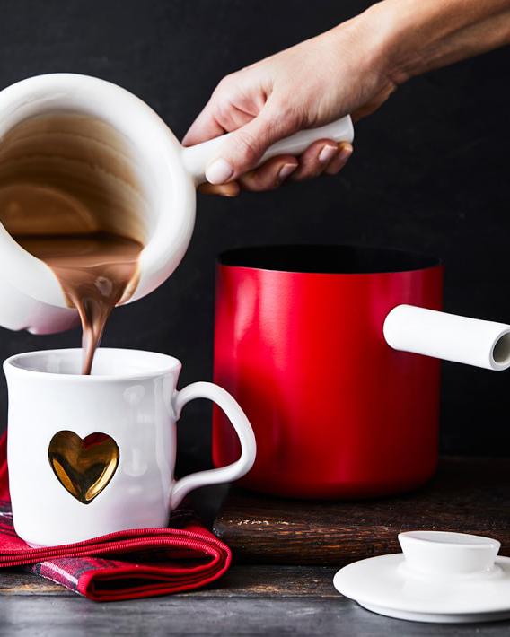 Williams-Sonoma Hot Chocolate Pot with Ceramic Insert