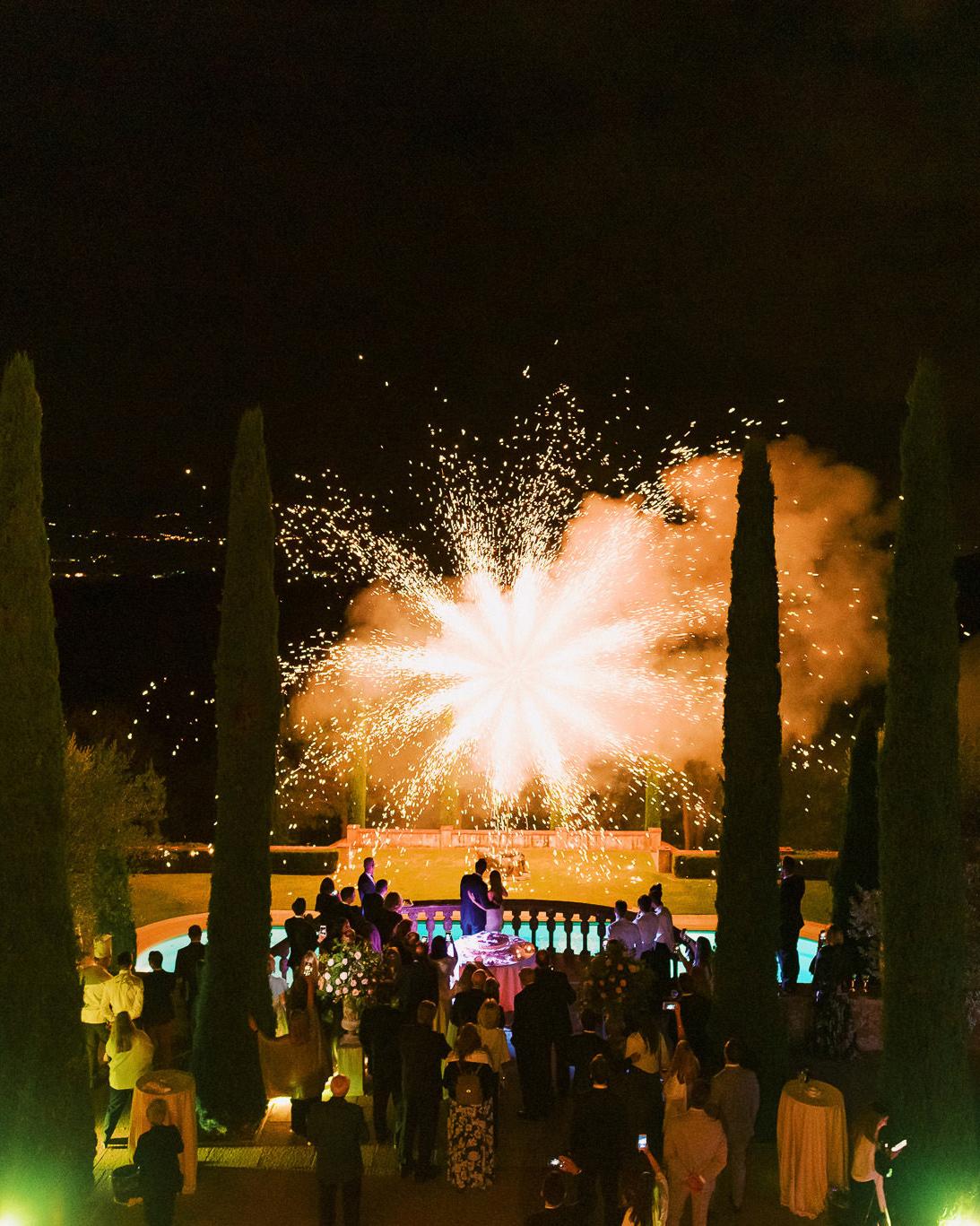 ally brian wedding firework show