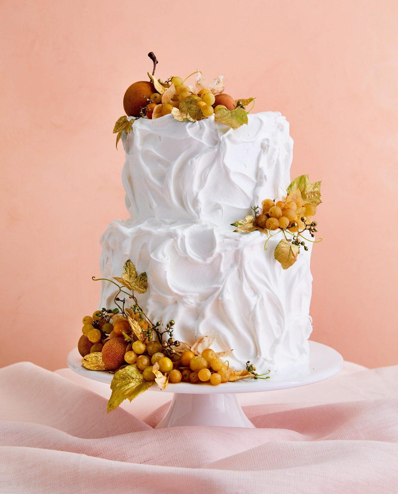 lmond and chocolate-ganache cake