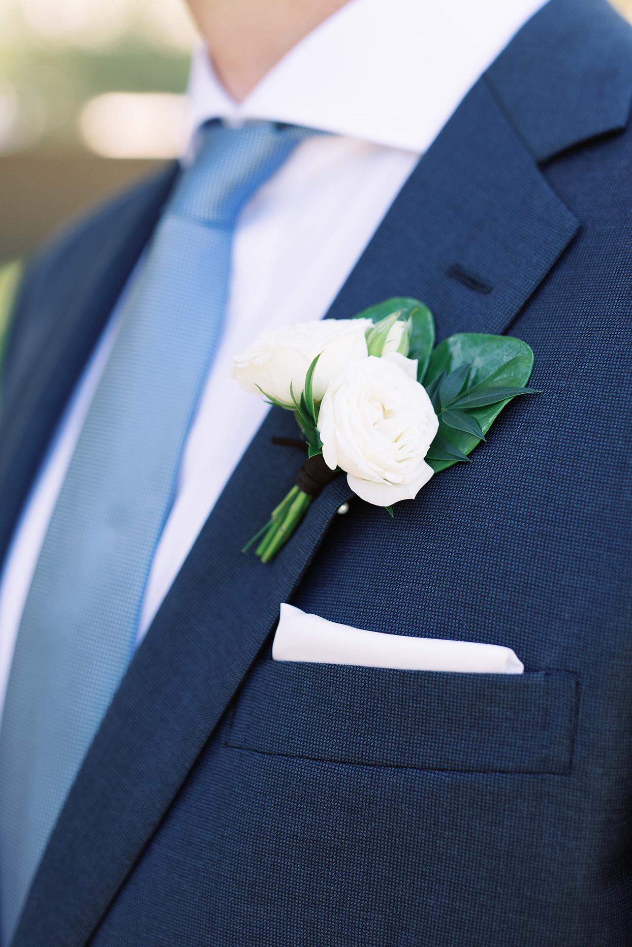 amanda will groom wedding boutonniere